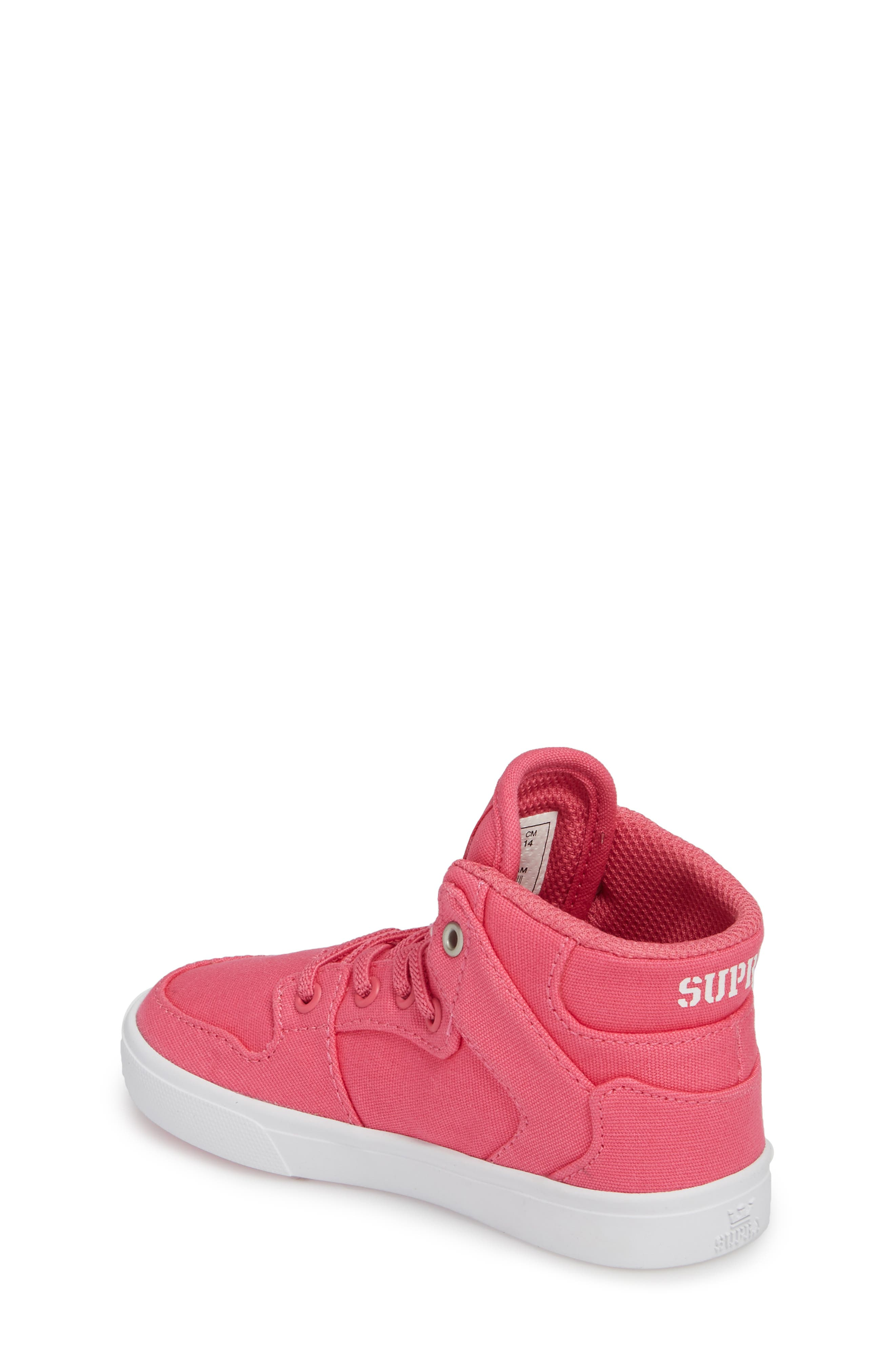 'Vaider' High Top Sneaker,                             Alternate thumbnail 2, color,                             Pink