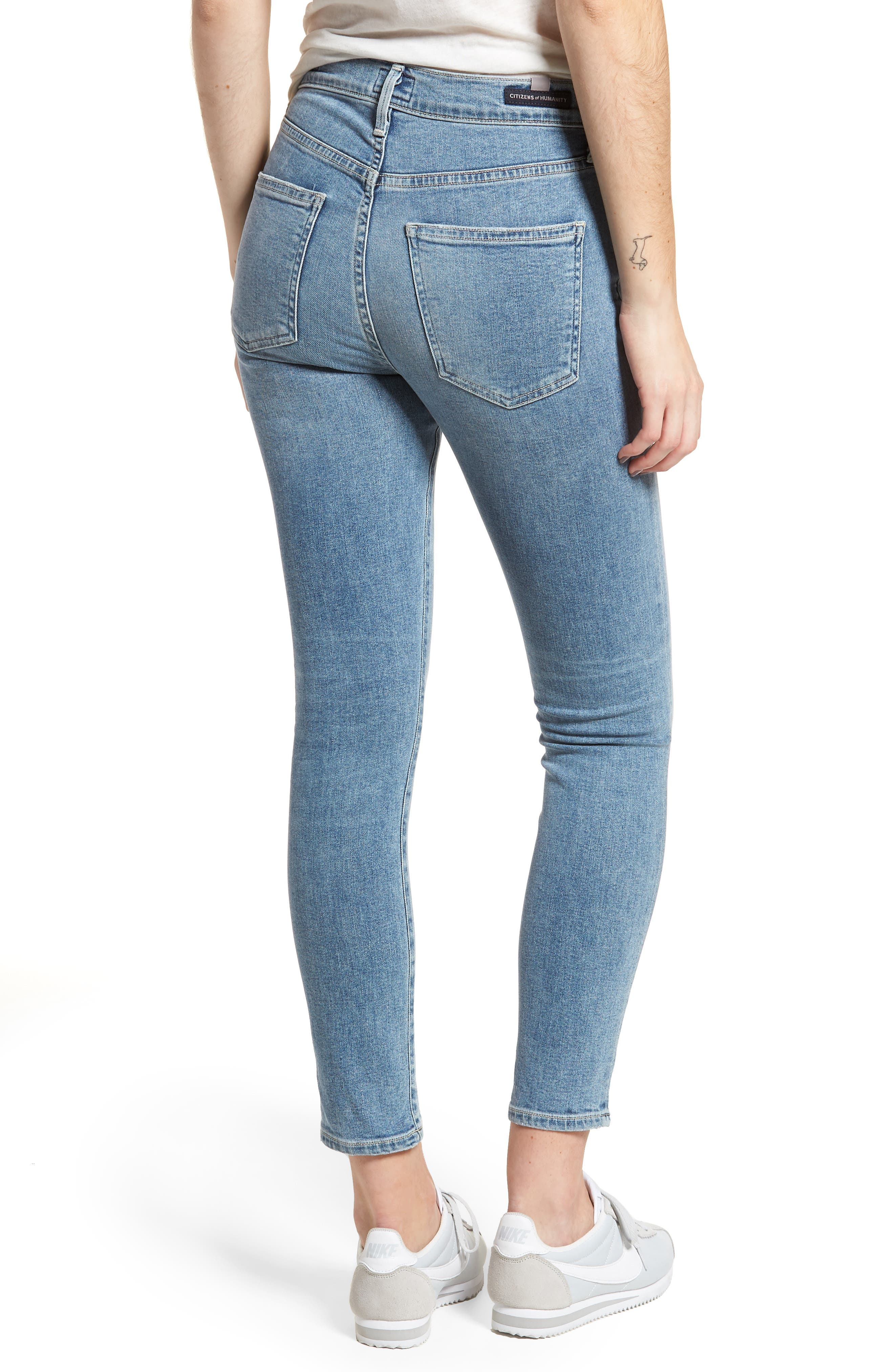 Rocket High Waist Crop Skinny Jeans,                             Alternate thumbnail 2, color,                             Firestone