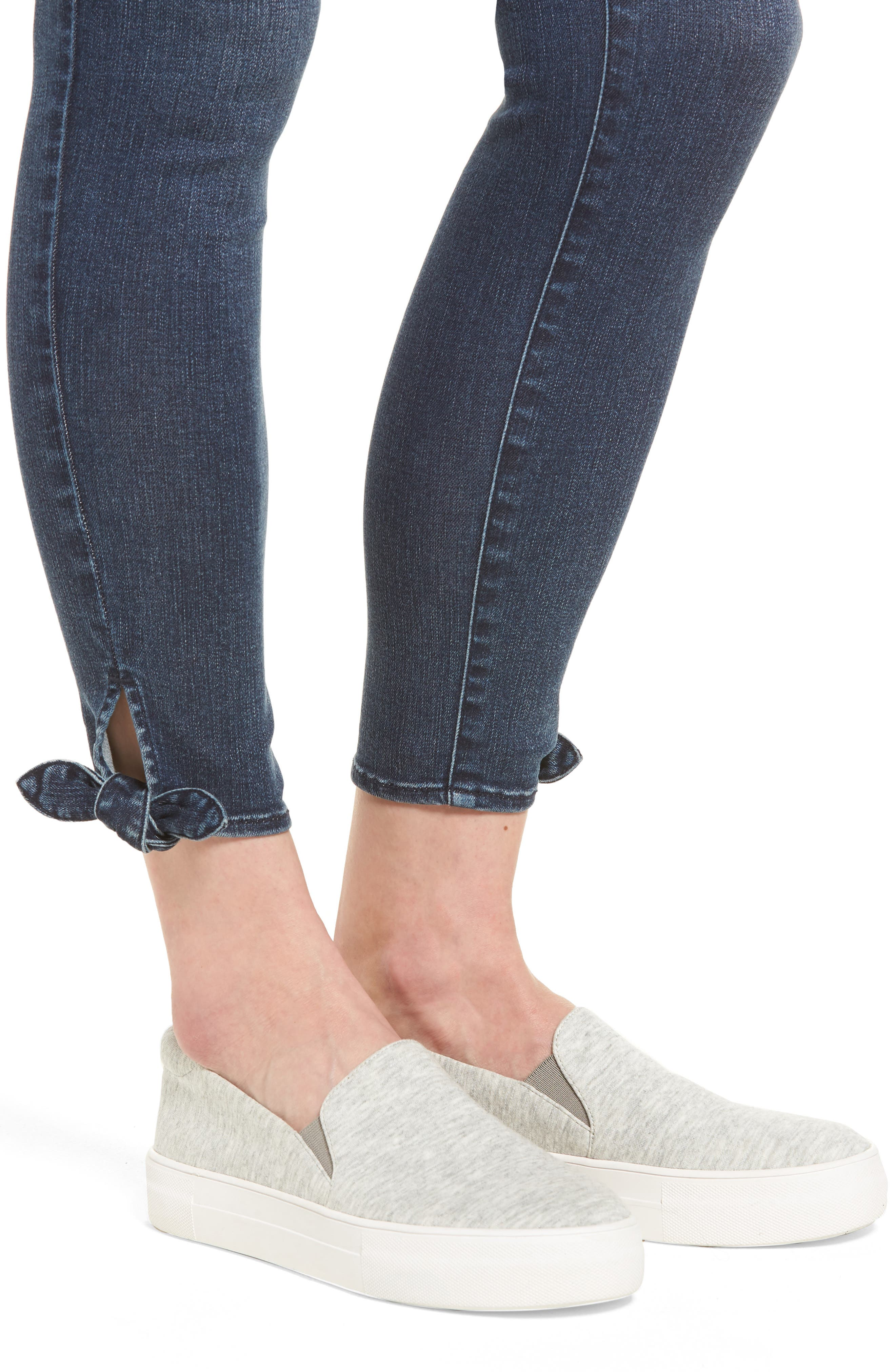 Ab-solution Ankle Skinny Skimmer Jeans,                             Alternate thumbnail 4, color,                             Bl- Blue