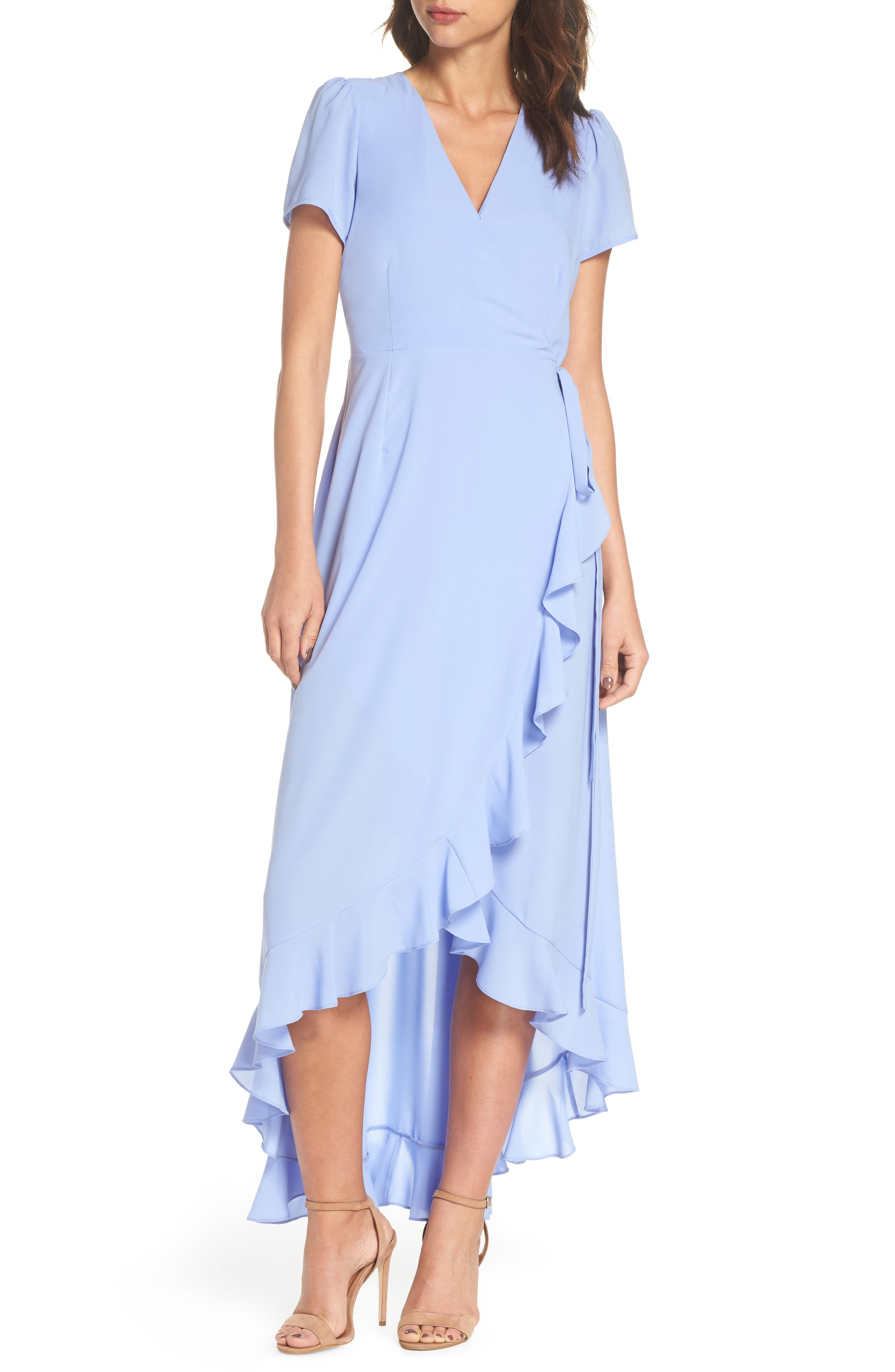 Main Image - Felicity & Coco Madge Ruffle Wrap Maxi Dress (Regular & Petite) (Nordstrom Exclusive)