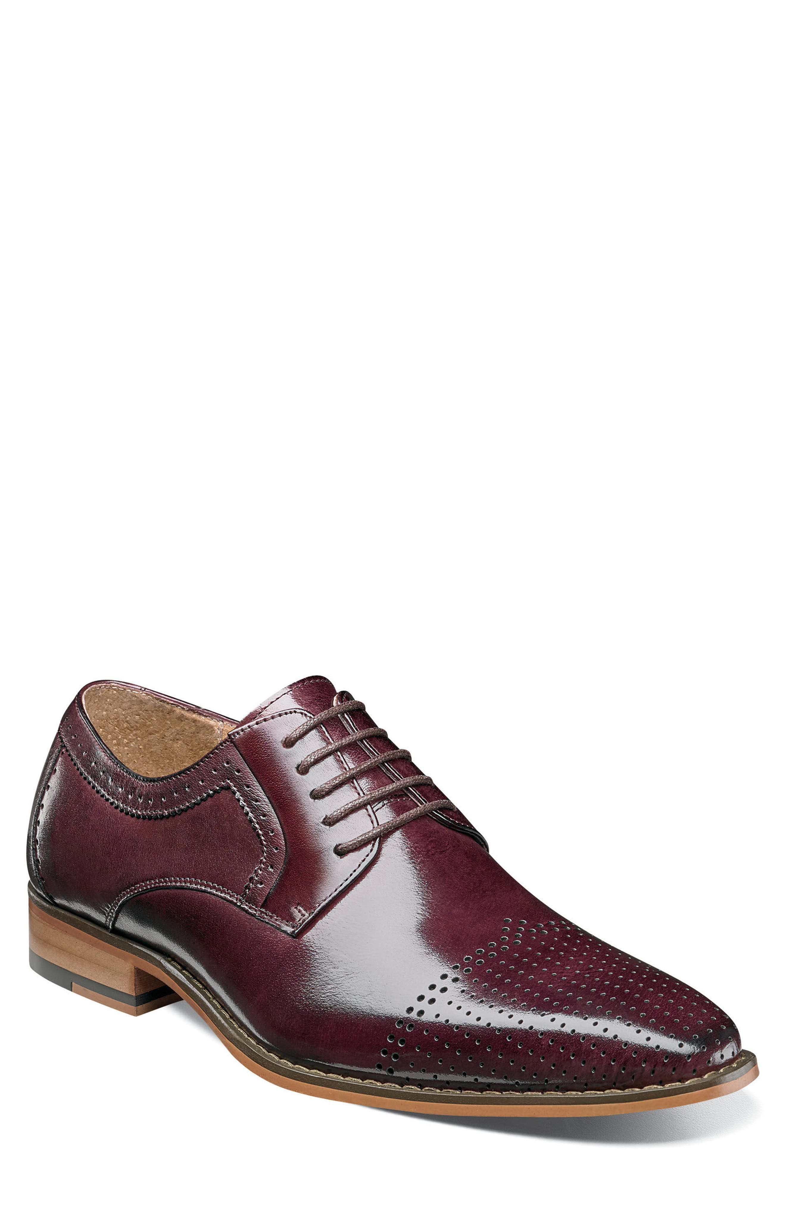 Stacy Adams Sanborn Perforated Cap Toe Derby (Men)