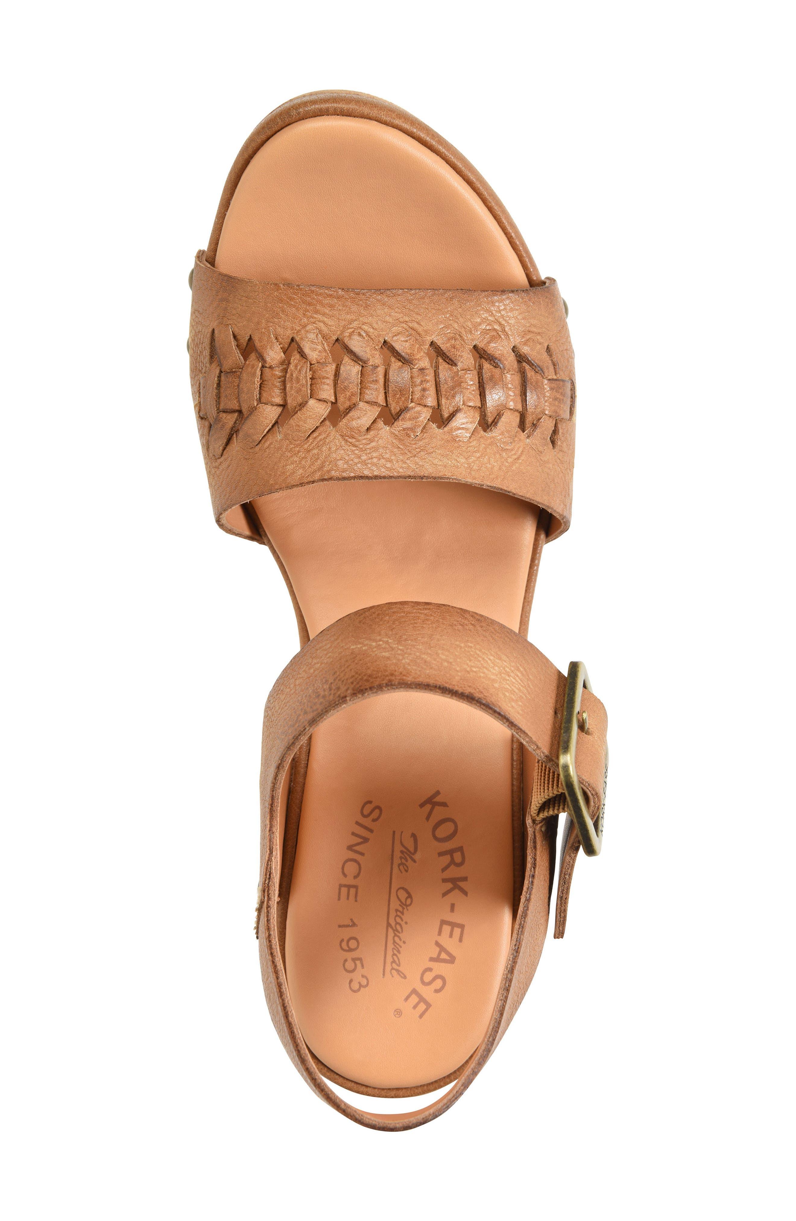 Pasilla Platform Sandal,                             Alternate thumbnail 5, color,                             Light Brown Leather