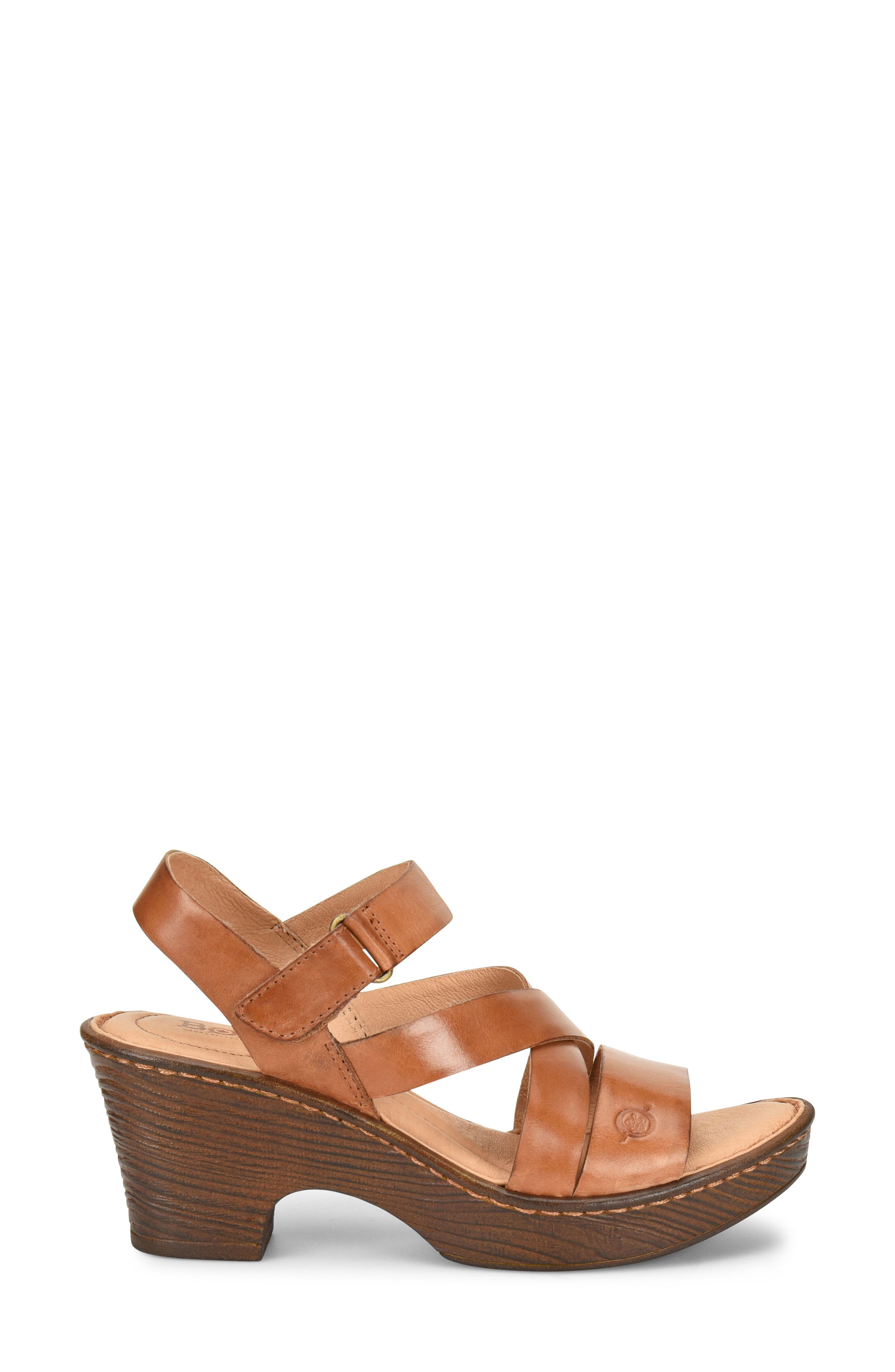 Cubera Platform Sandal,                             Alternate thumbnail 3, color,                             Brown Leather