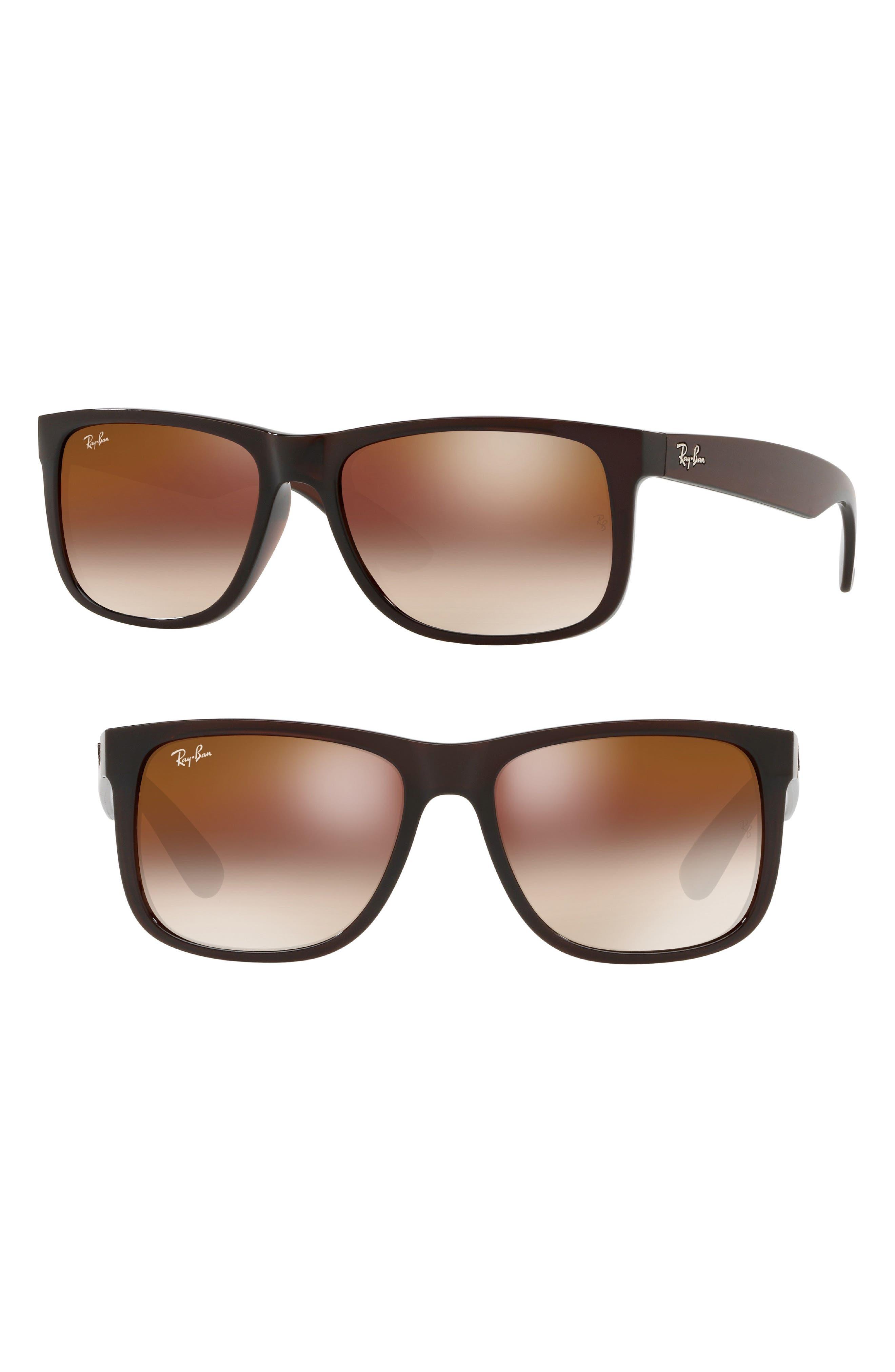 Justin 54mm Sunglasses,                         Main,                         color, Brown