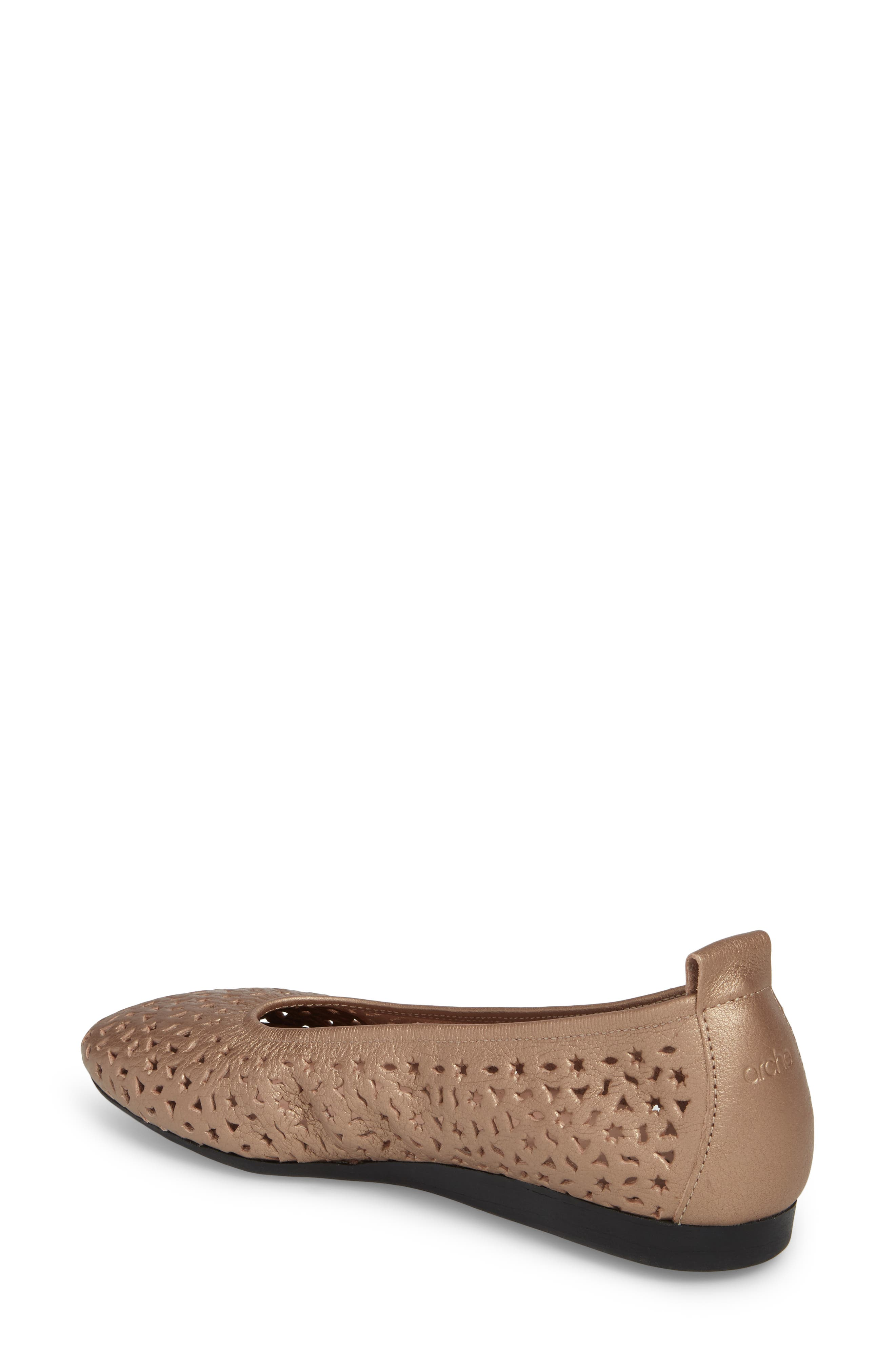 'Lilly' Flat,                             Alternate thumbnail 2, color,                             Antico/ Blush Leather