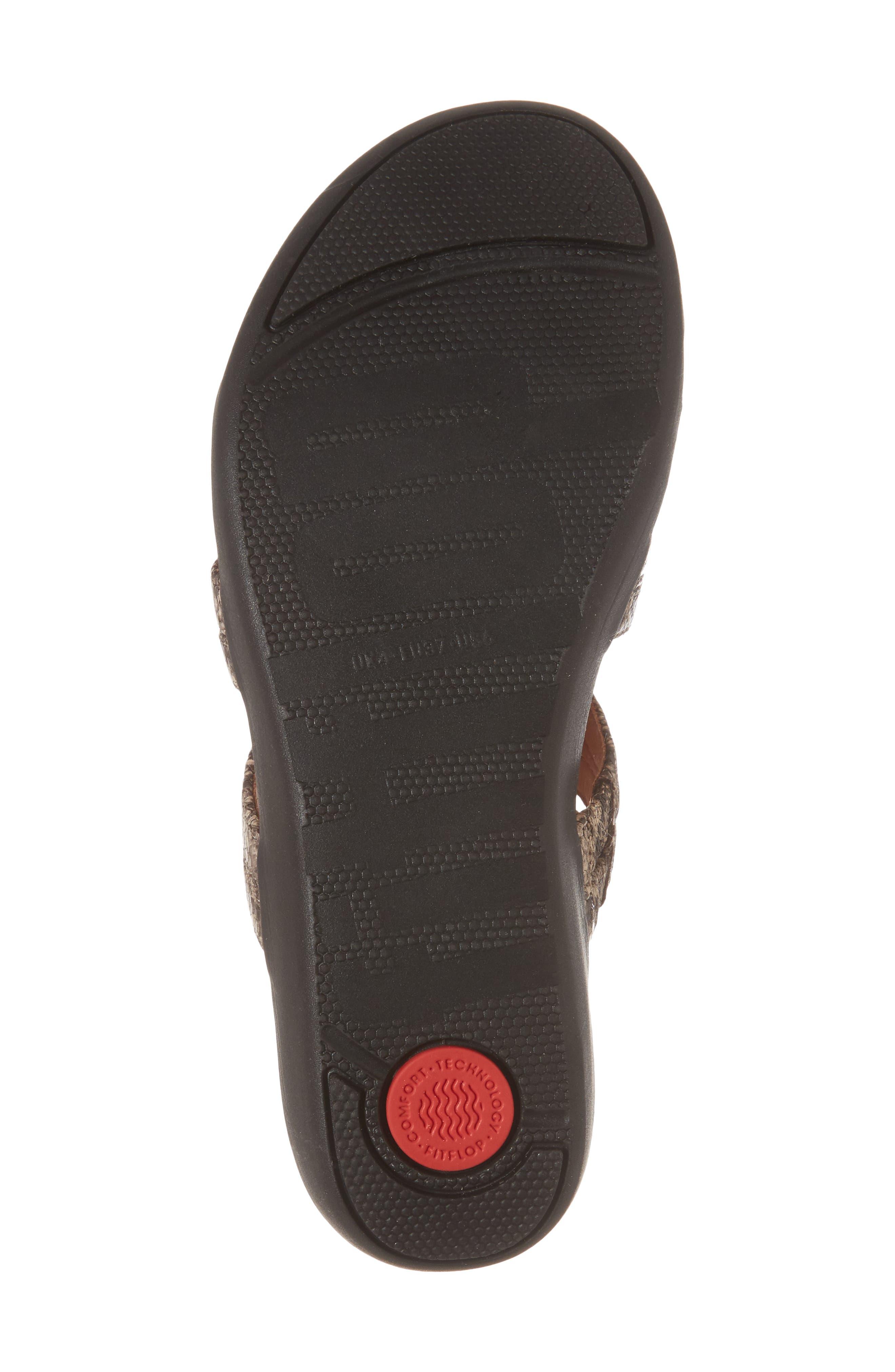 Strata Gladiator Sandal,                             Alternate thumbnail 6, color,                             Taupe Snake Print Leather