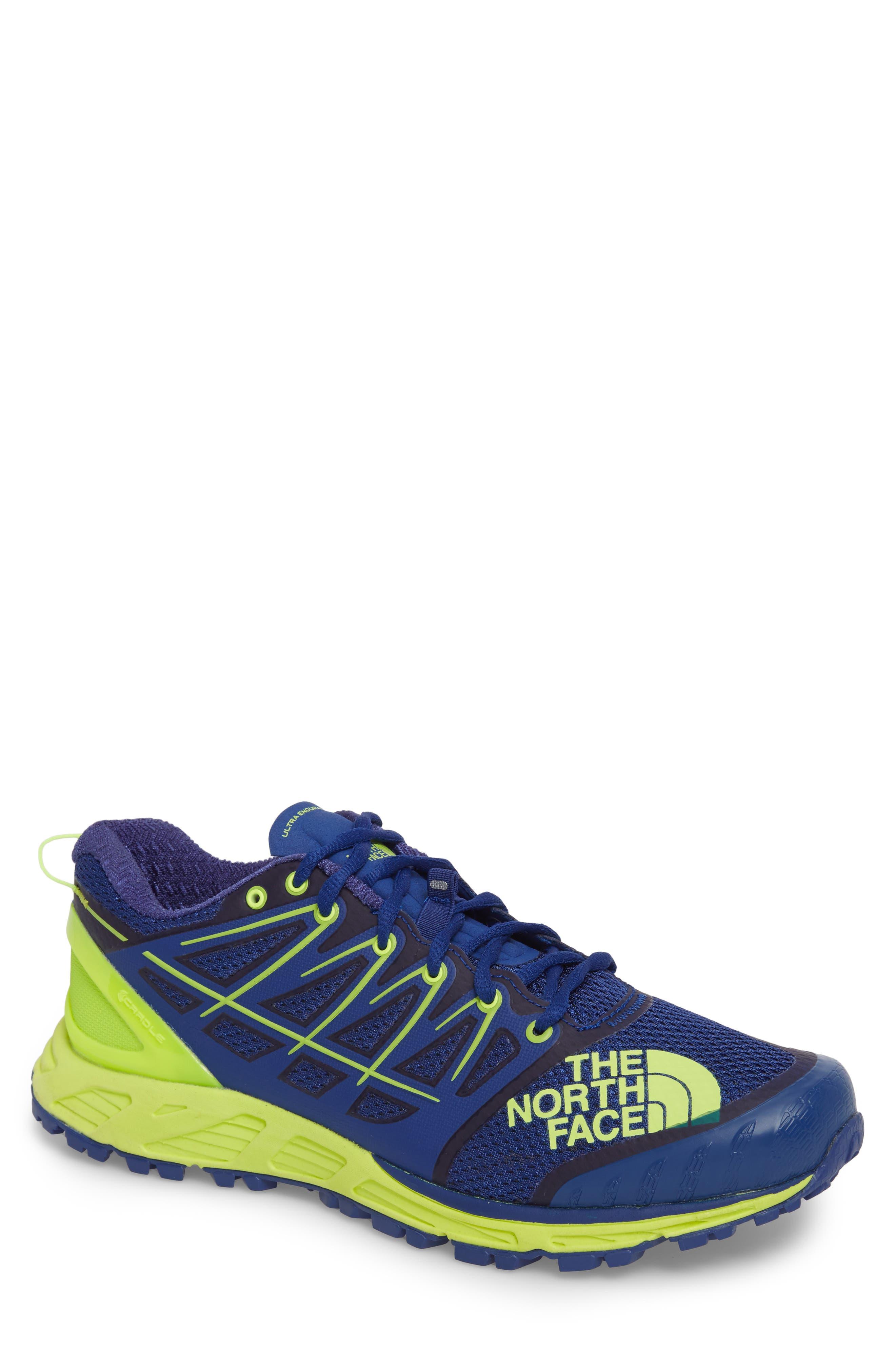 Ultra Endurance II Trail Running Shoe,                         Main,                         color, Brit Blue/ Dayglo Yellow