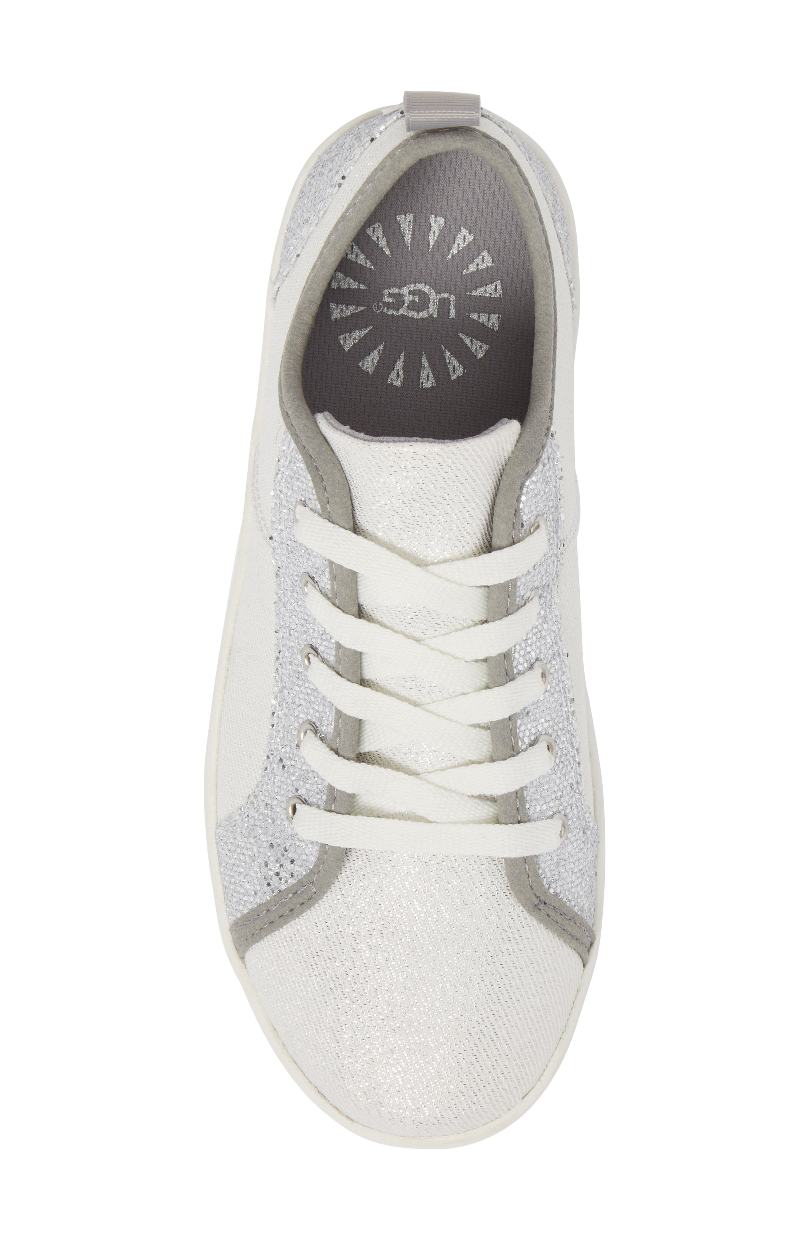 Irvin Sparkles Metallic Sneaker,                             Alternate thumbnail 5, color,                             Silver