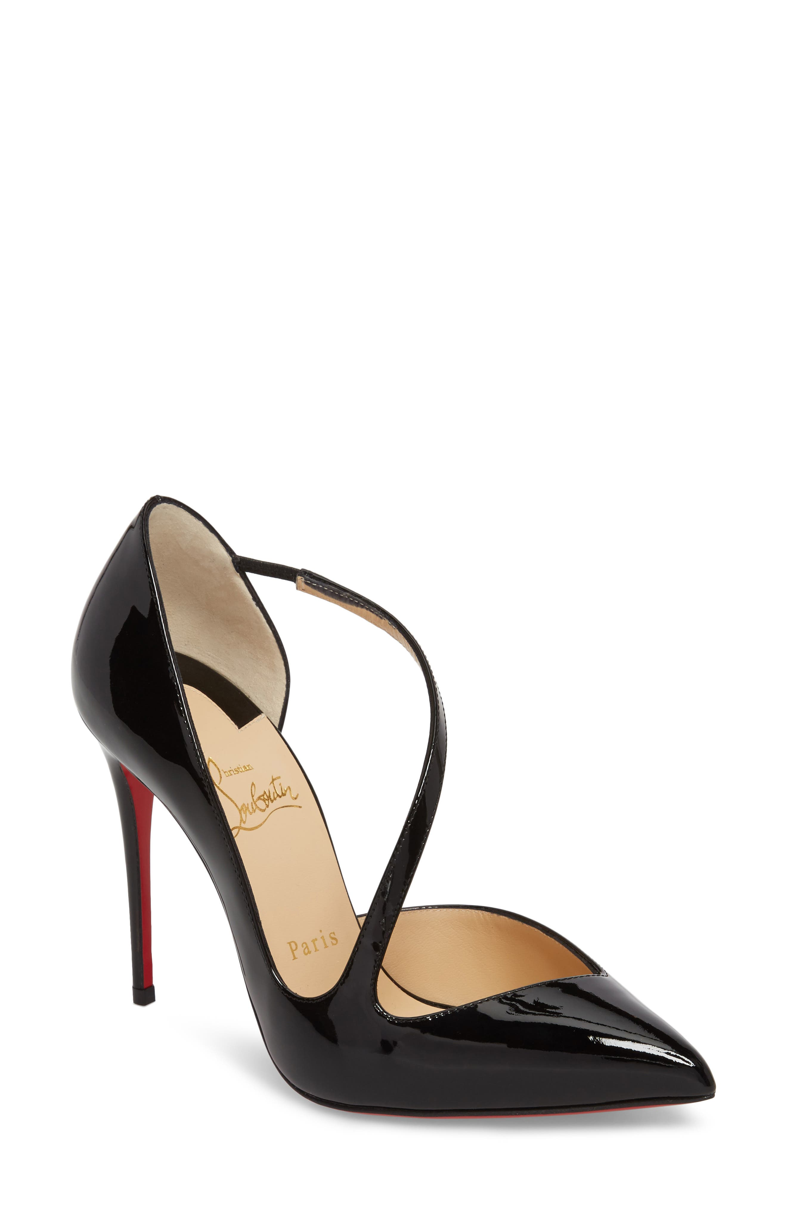 Alternate Image 1 Selected - Christian Louboutin Strappy Half d'Orsay Pump