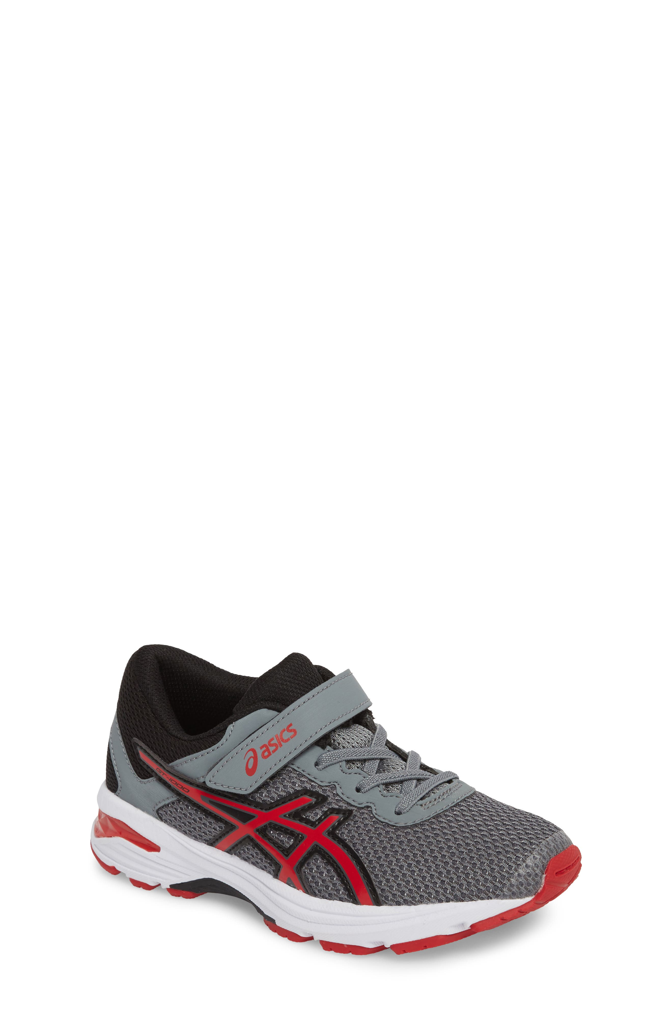 Asics GT-1000<sup>™</sup> 6 PS Sneaker,                         Main,                         color, Stone Grey/ Classic Red/ Black