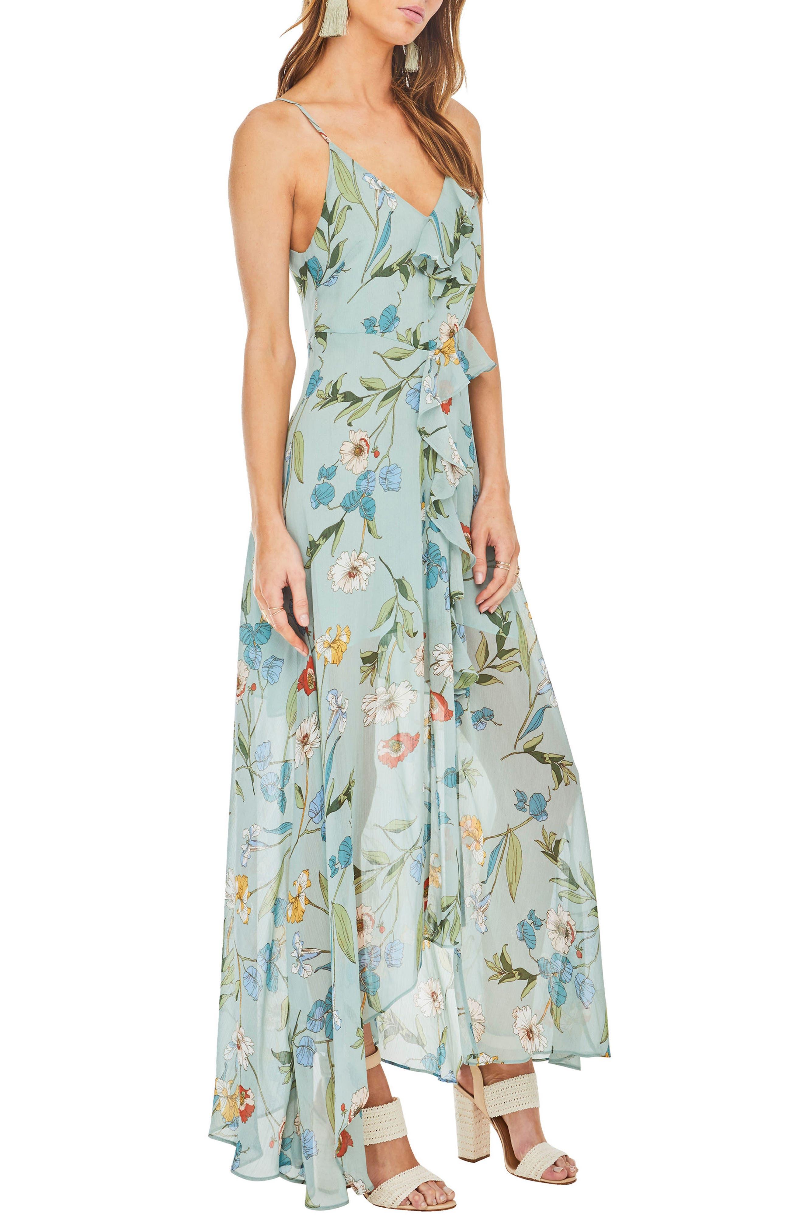 Sienna Maxi Dress,                             Alternate thumbnail 4, color,                             Sage Multi Floral