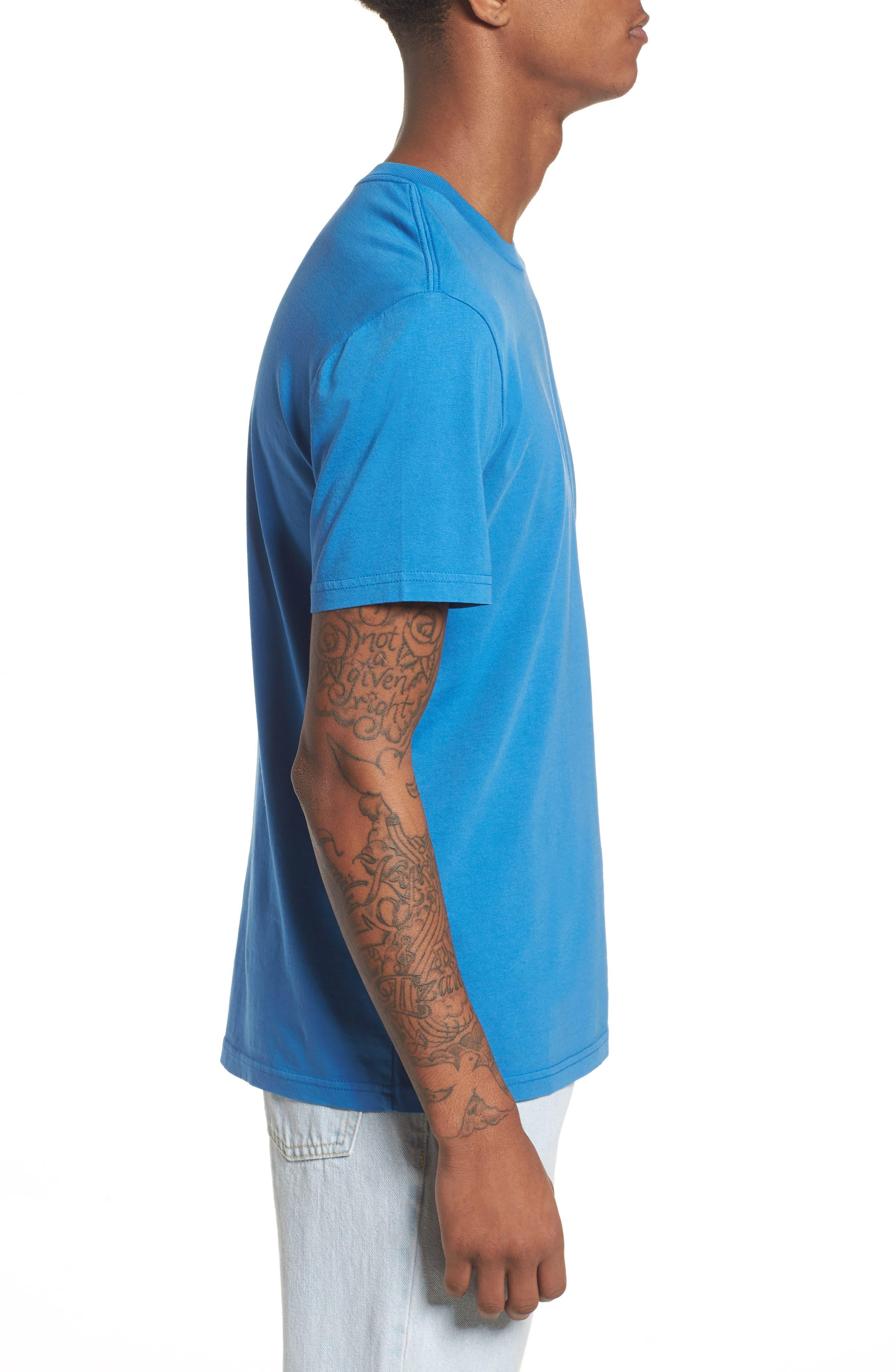 Pop Color T-Shirt,                             Alternate thumbnail 3, color,                             Strong Blue
