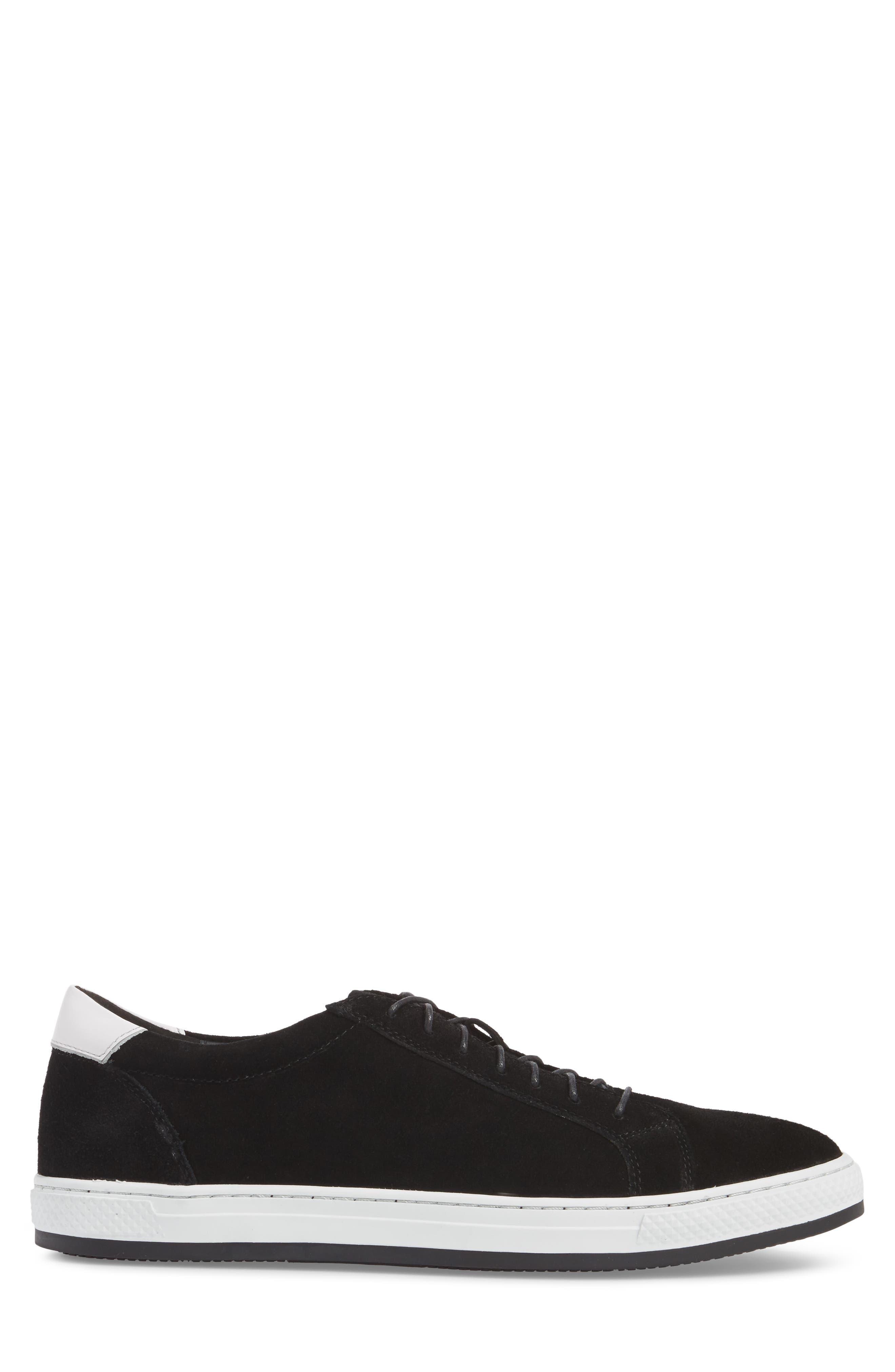 Queens Sneaker,                             Alternate thumbnail 3, color,                             Black Suede