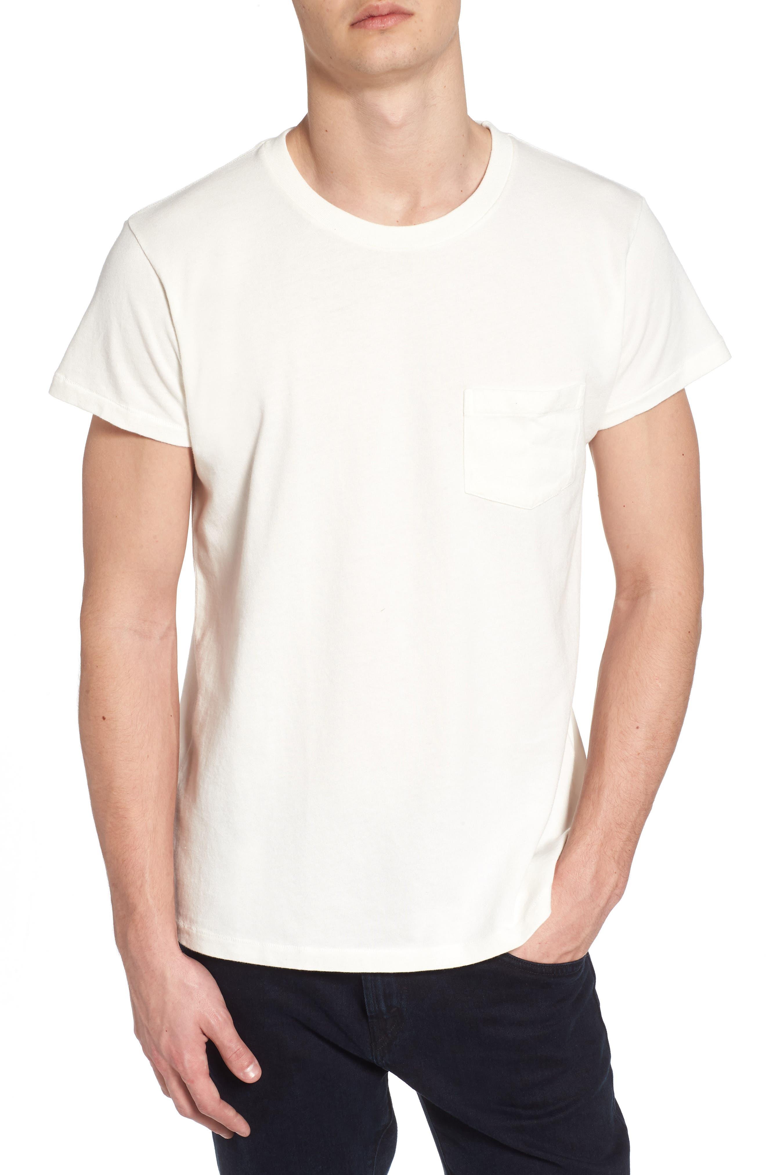 1950s Sportswear Pocket T-Shirt,                         Main,                         color, White