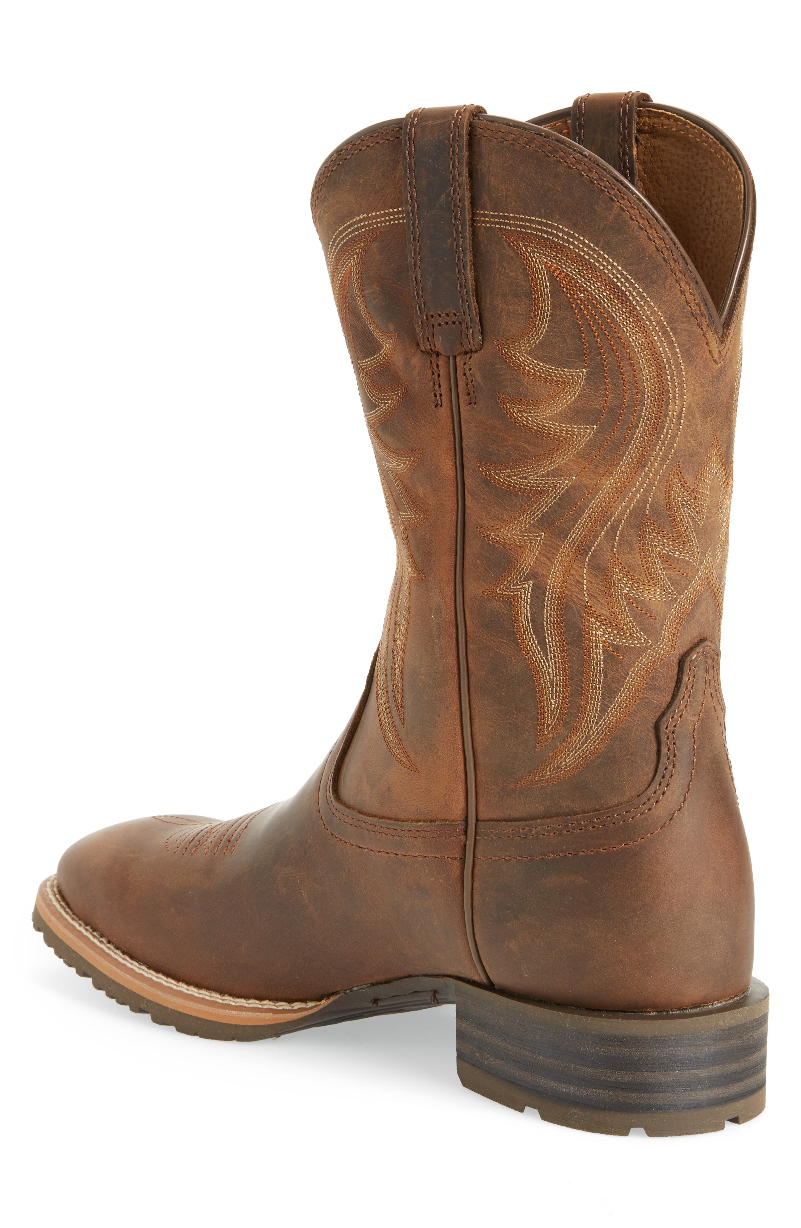 Hybrid Rancher Cowboy Boot,                             Alternate thumbnail 2, color,                             Distressed Brown Leather