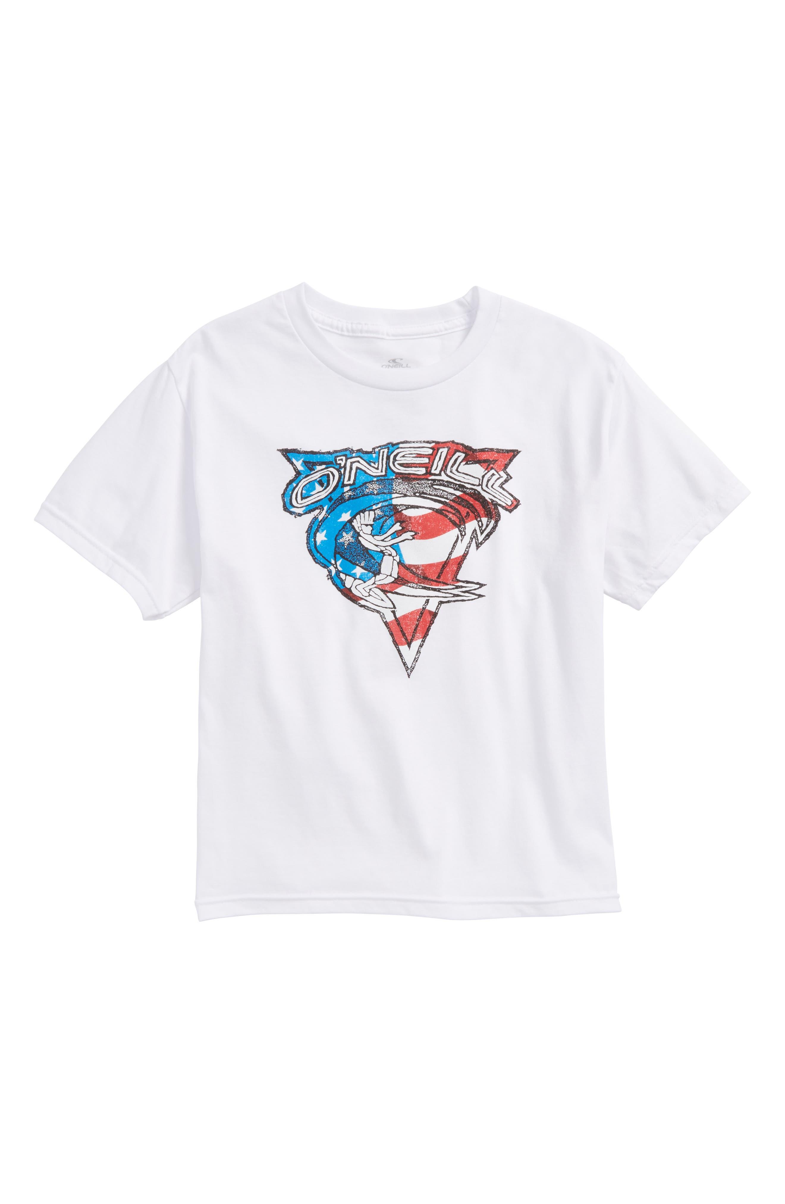 Patriot Graphic T-Shirt,                             Main thumbnail 1, color,                             White