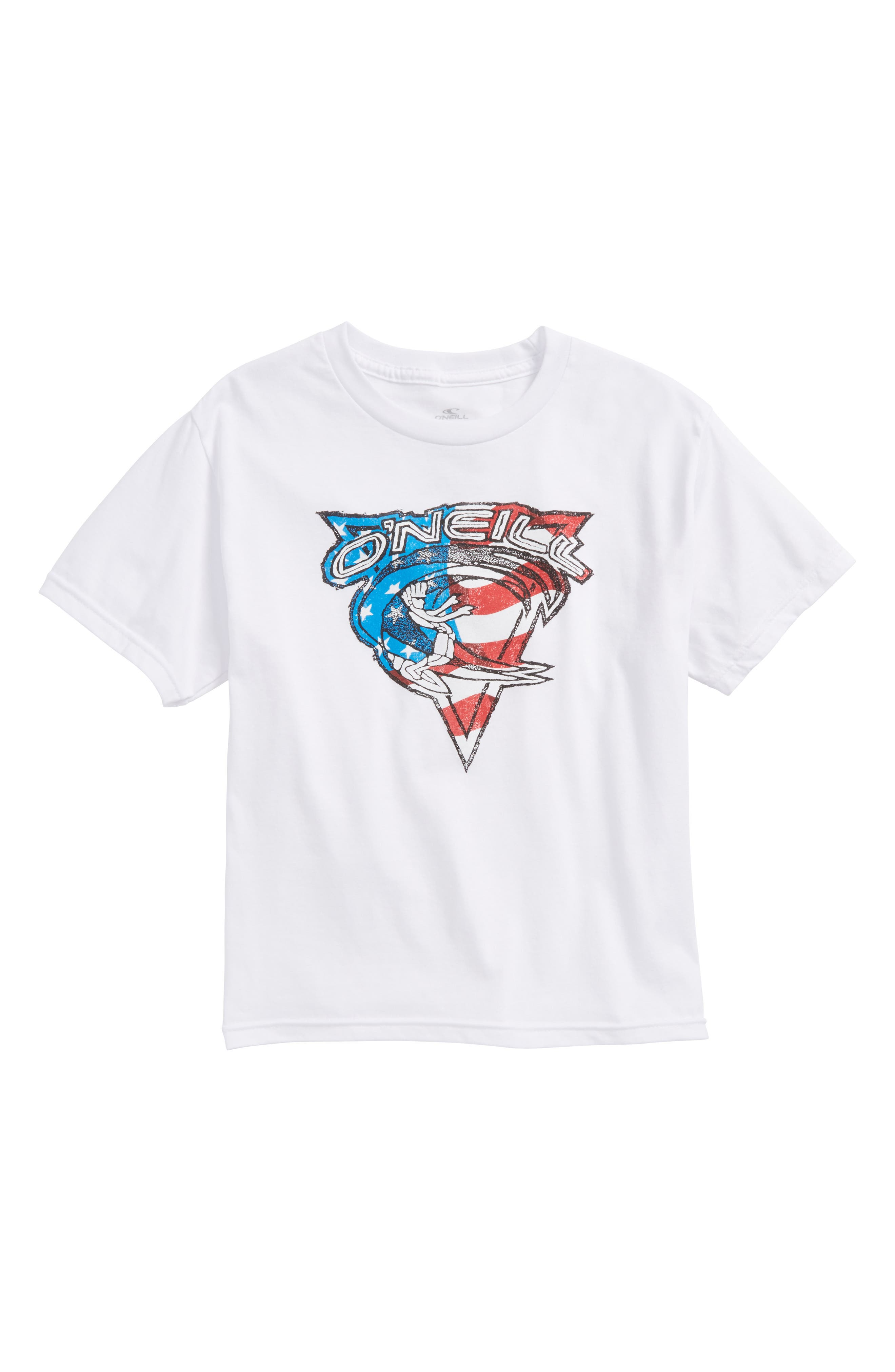 Patriot Graphic T-Shirt,                         Main,                         color, White