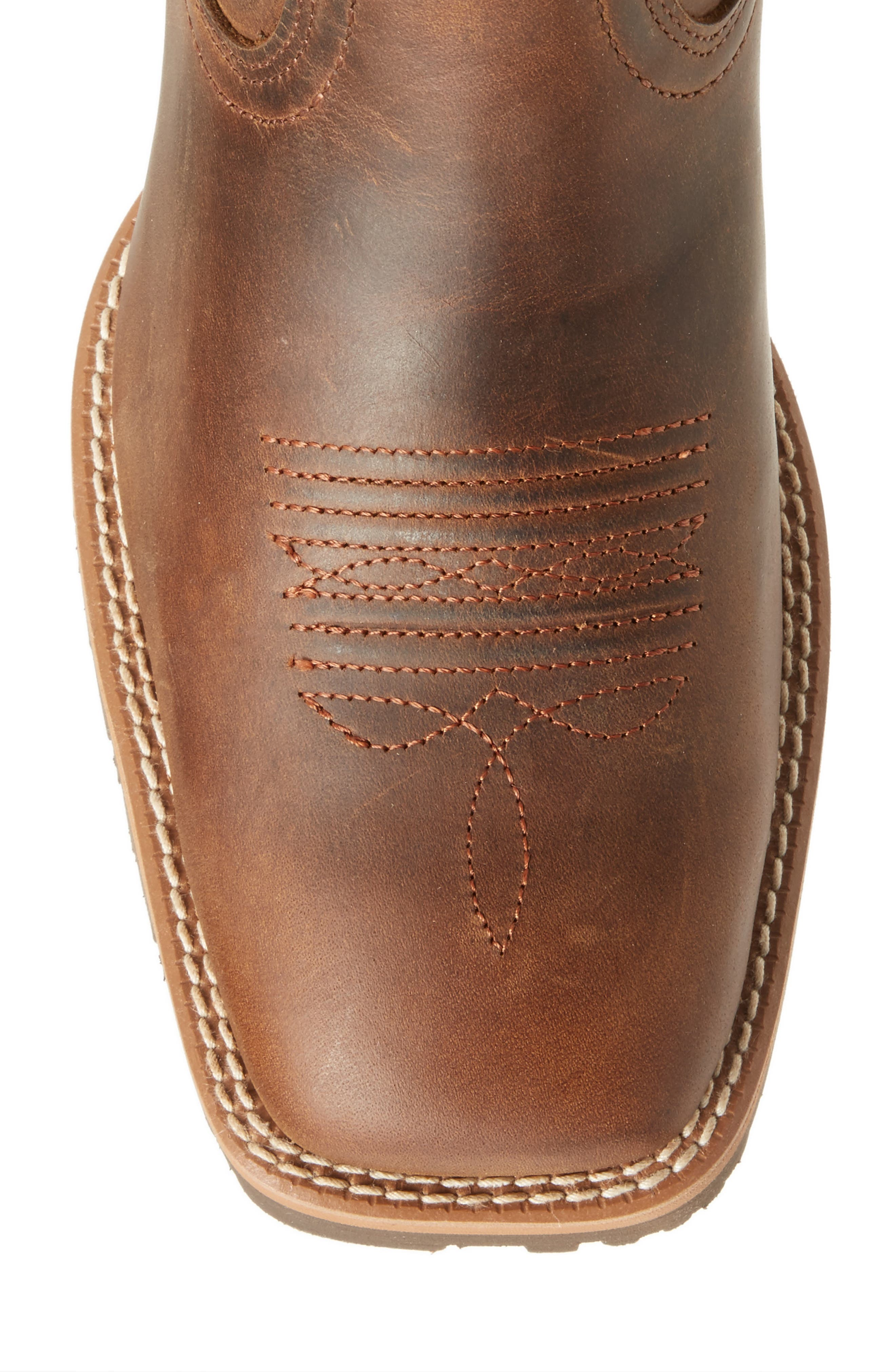 Hybrid Rancher Cowboy Boot,                             Alternate thumbnail 5, color,                             Distressed Brown Leather