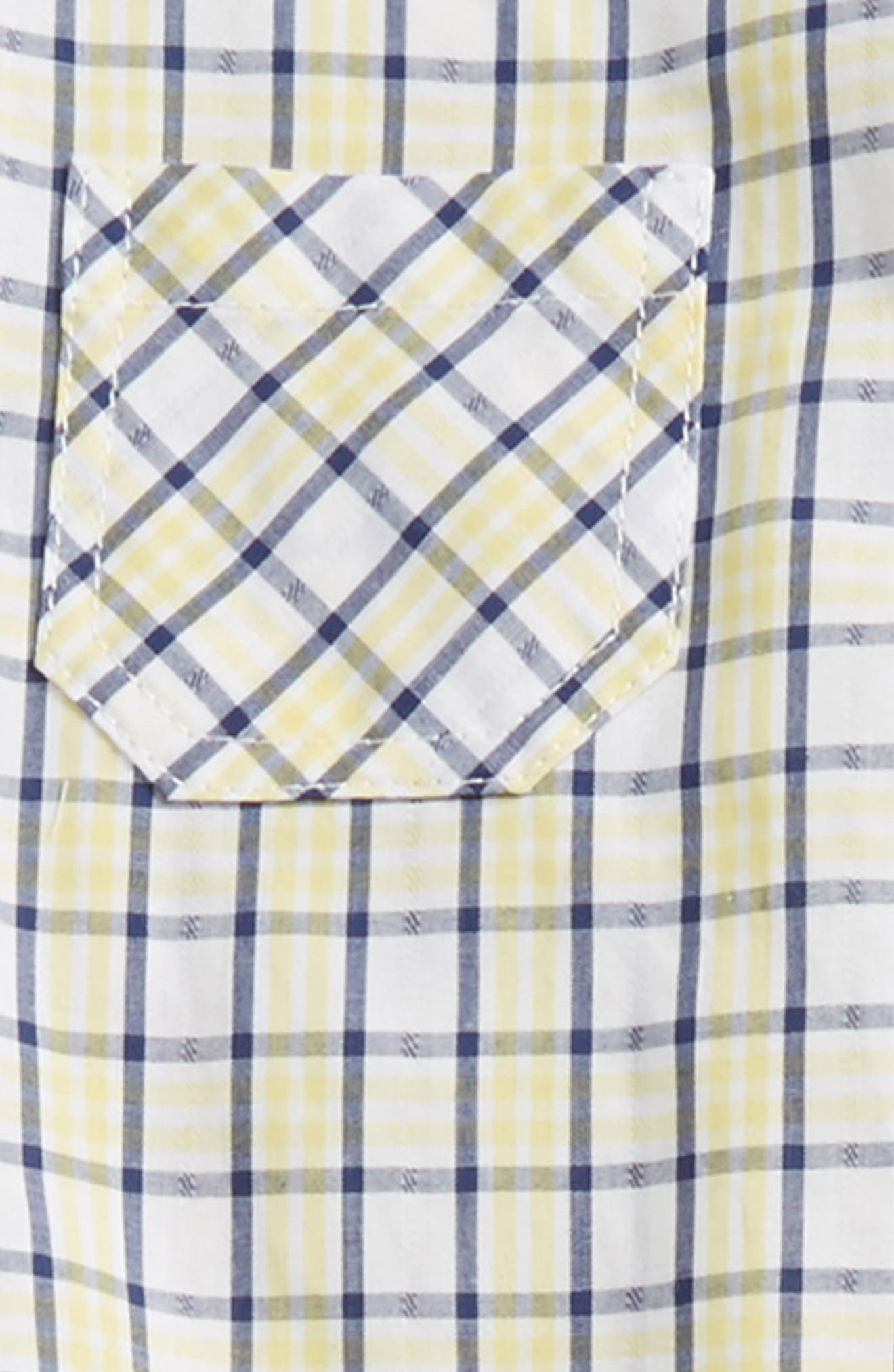 Plaid Top & Pants Set,                             Alternate thumbnail 2, color,                             Yellow/ Blue