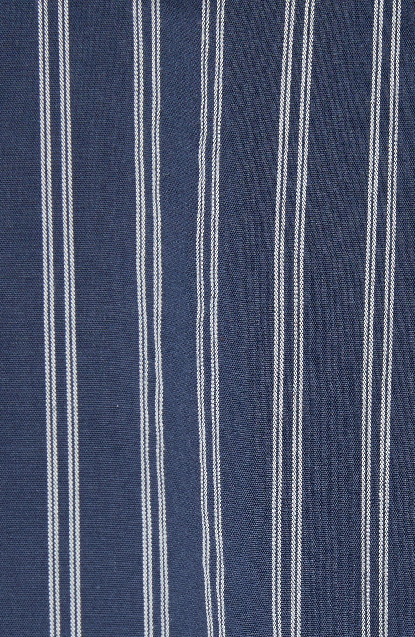 Ronit Fit & Flare Dress,                             Alternate thumbnail 5, color,                             Dark Navy