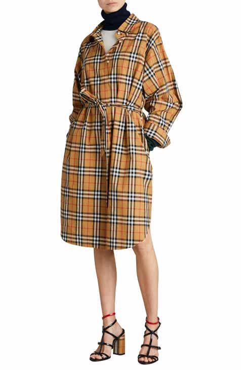 5113cf925b05 Burberry Isotto Tartan Shirtdress