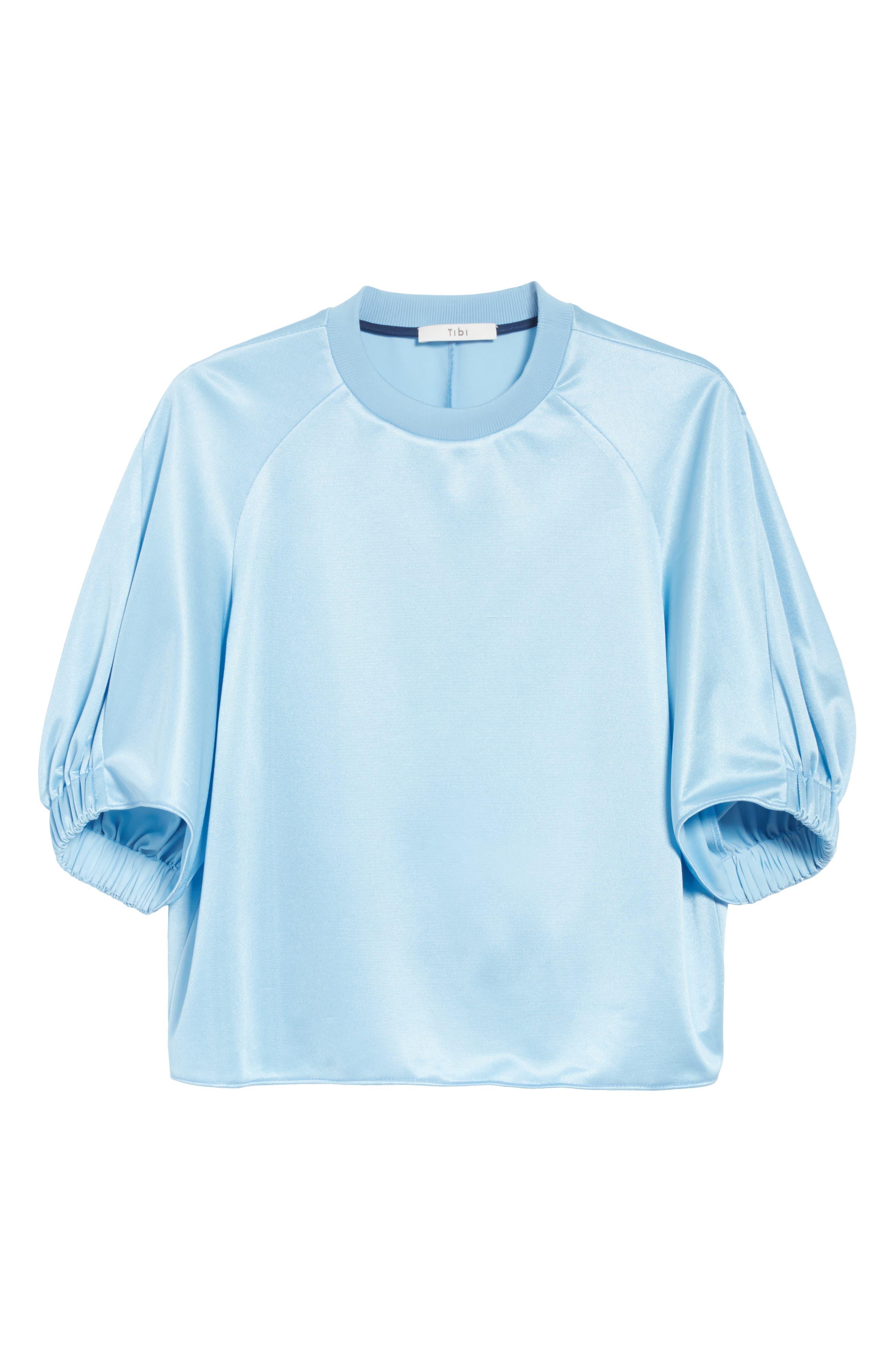 Dolman Sleeve Top,                             Alternate thumbnail 6, color,                             Oxford Blue