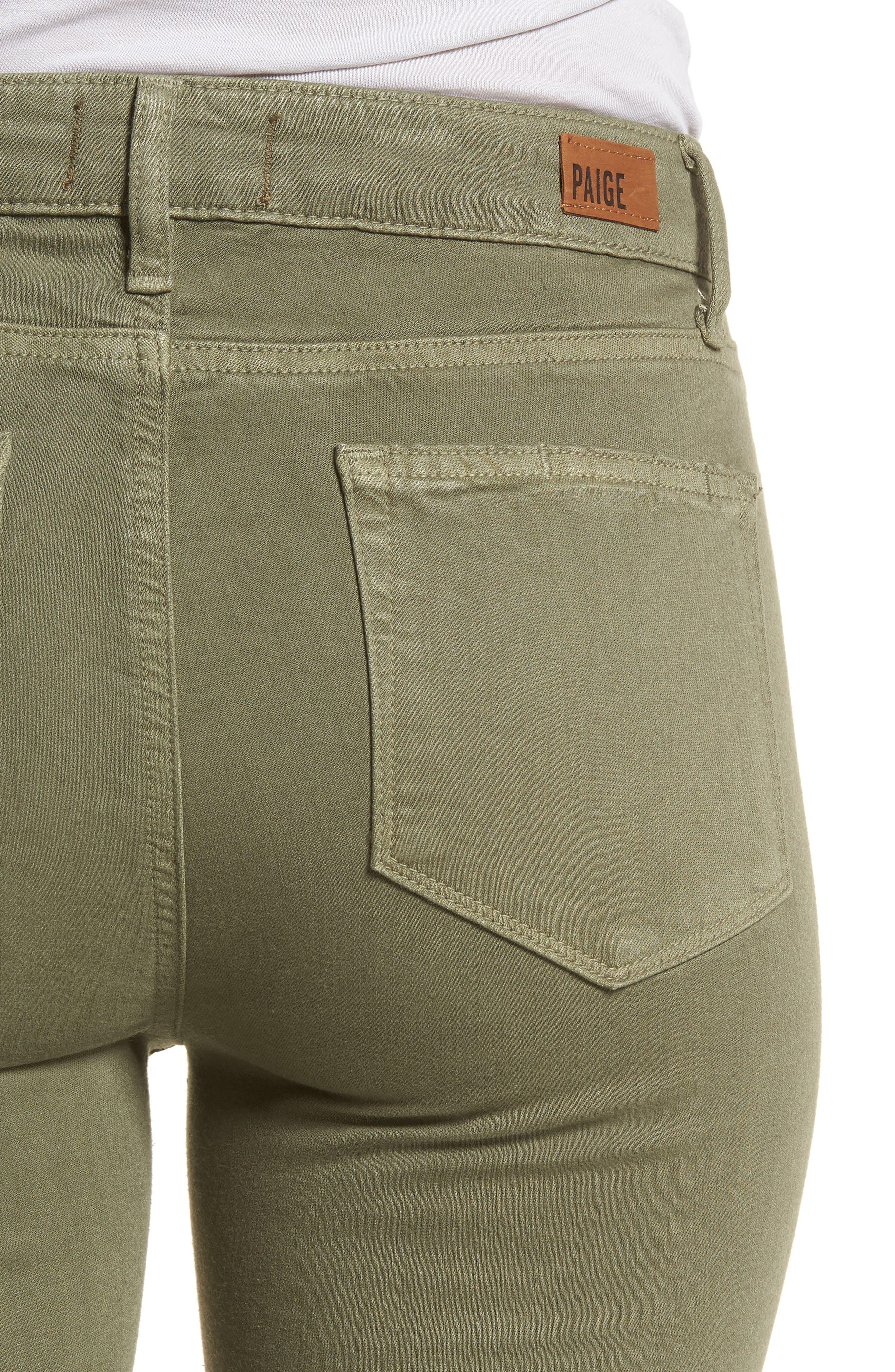 Hoxton High Waist Crop Skinny Jeans,                             Alternate thumbnail 4, color,                             Vintage Green