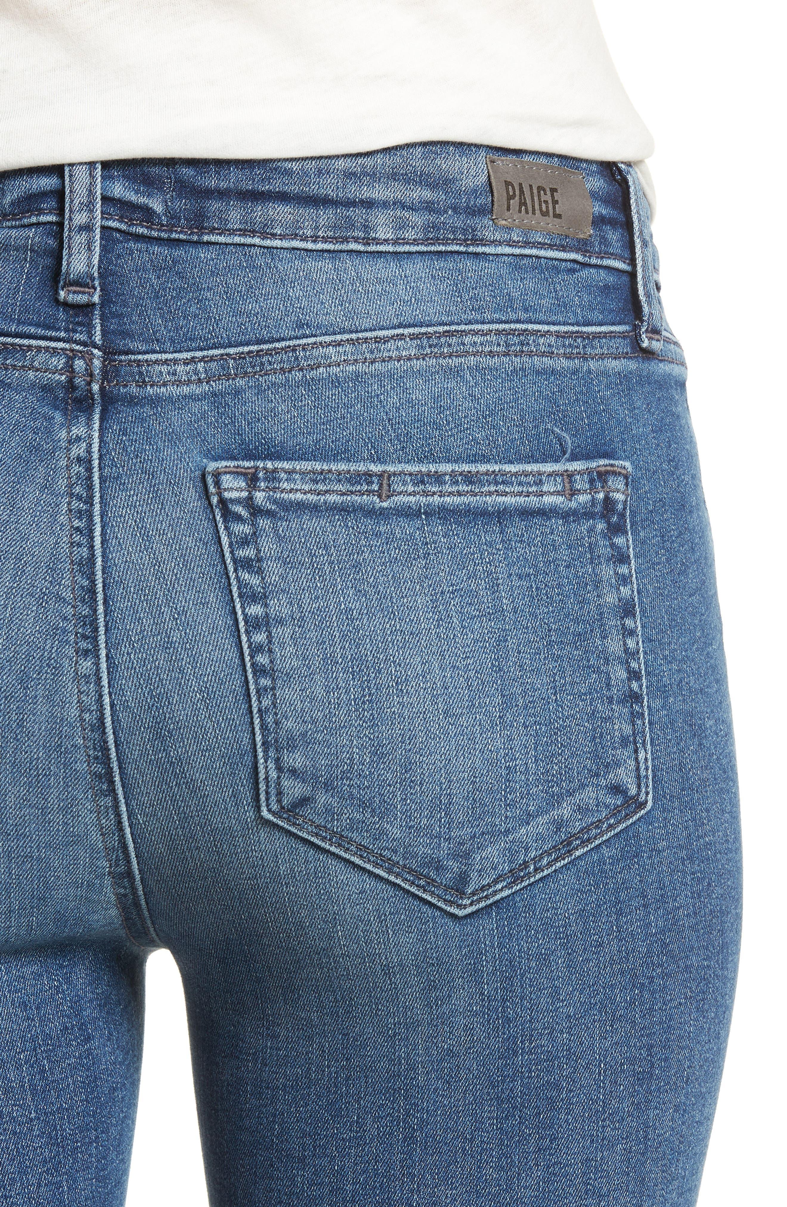 Transcend Vintage - Verdugo Crop Ultra Skinny Jeans,                             Alternate thumbnail 4, color,                             Bloomfield