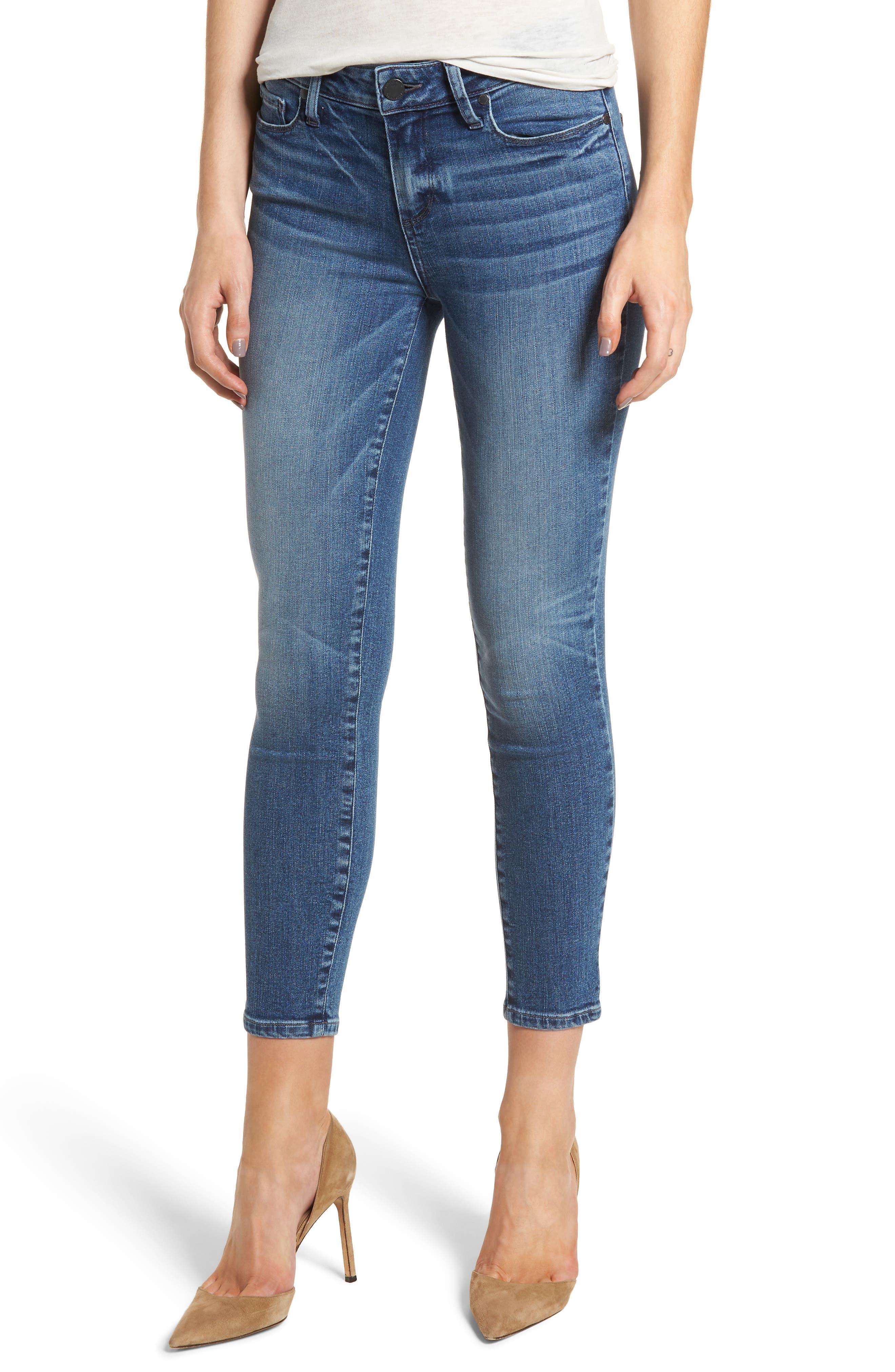 Transcend Vintage - Verdugo Crop Ultra Skinny Jeans,                         Main,                         color, Bloomfield