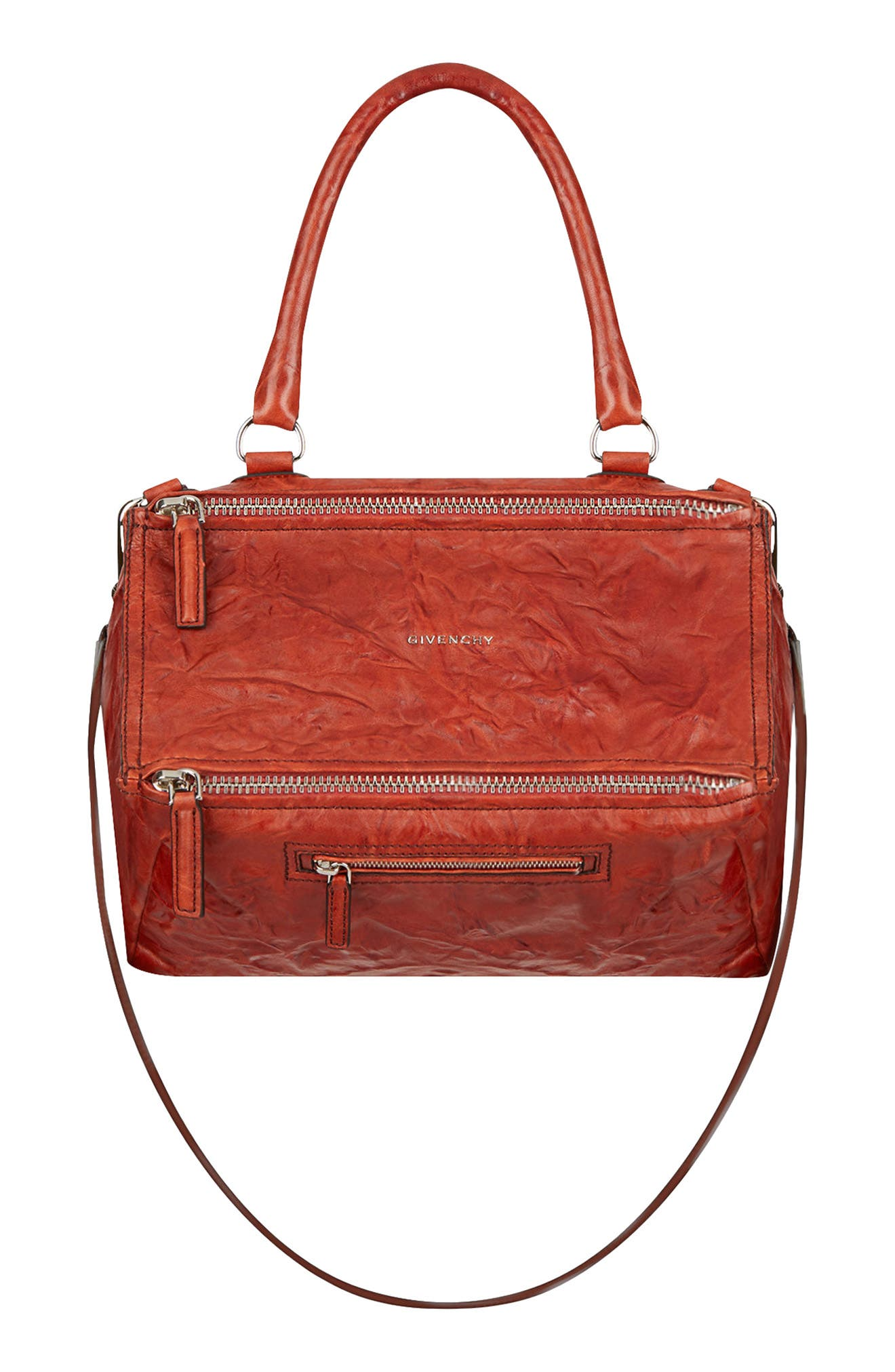 9c3a4394d3ce Givenchy  Medium Pepe Pandora  Leather Satchel - Red In Mahogany ...
