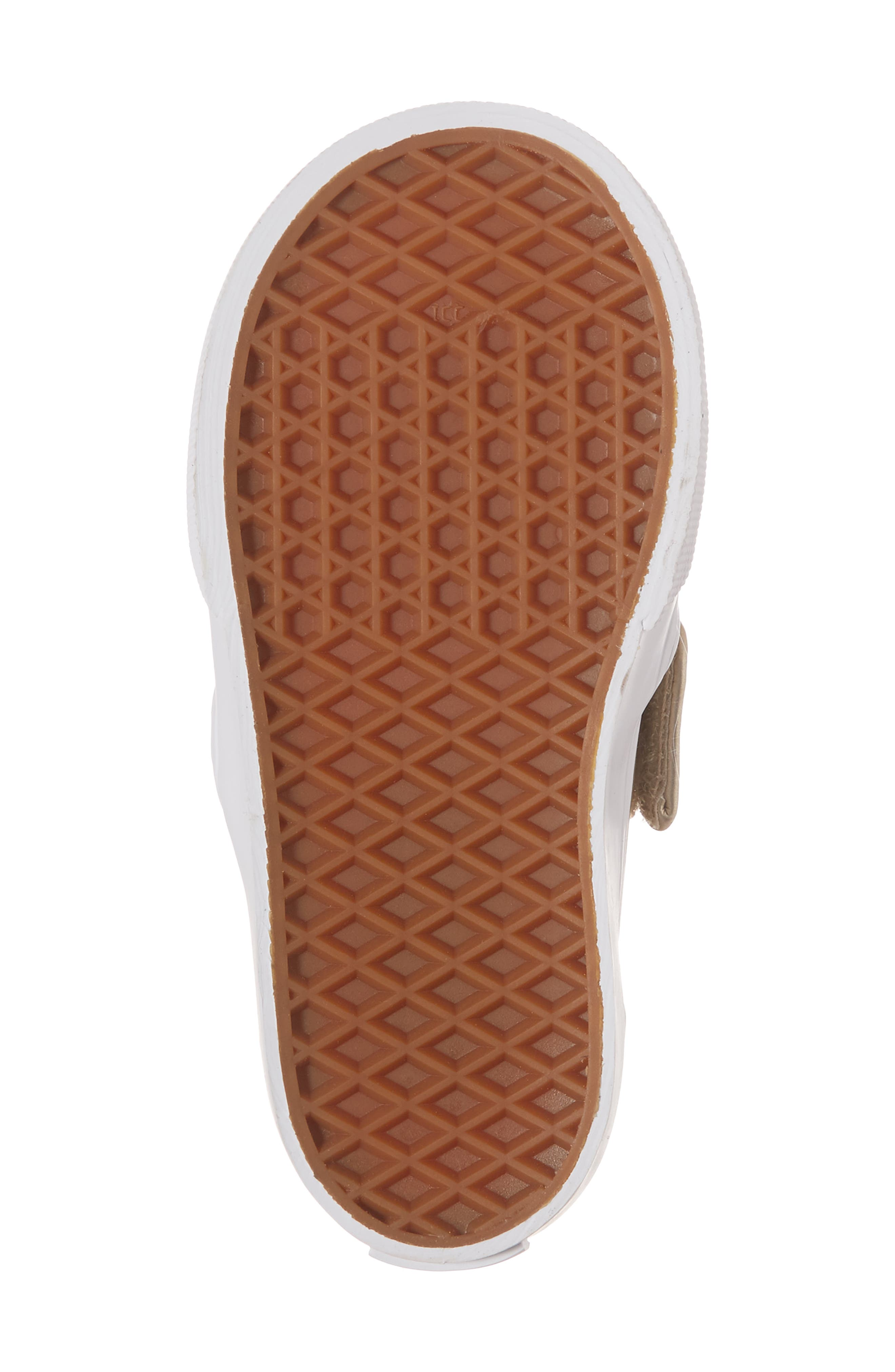 Classic Slip-On V Sneaker,                             Alternate thumbnail 6, color,                             Muted Metallic Gold/ White