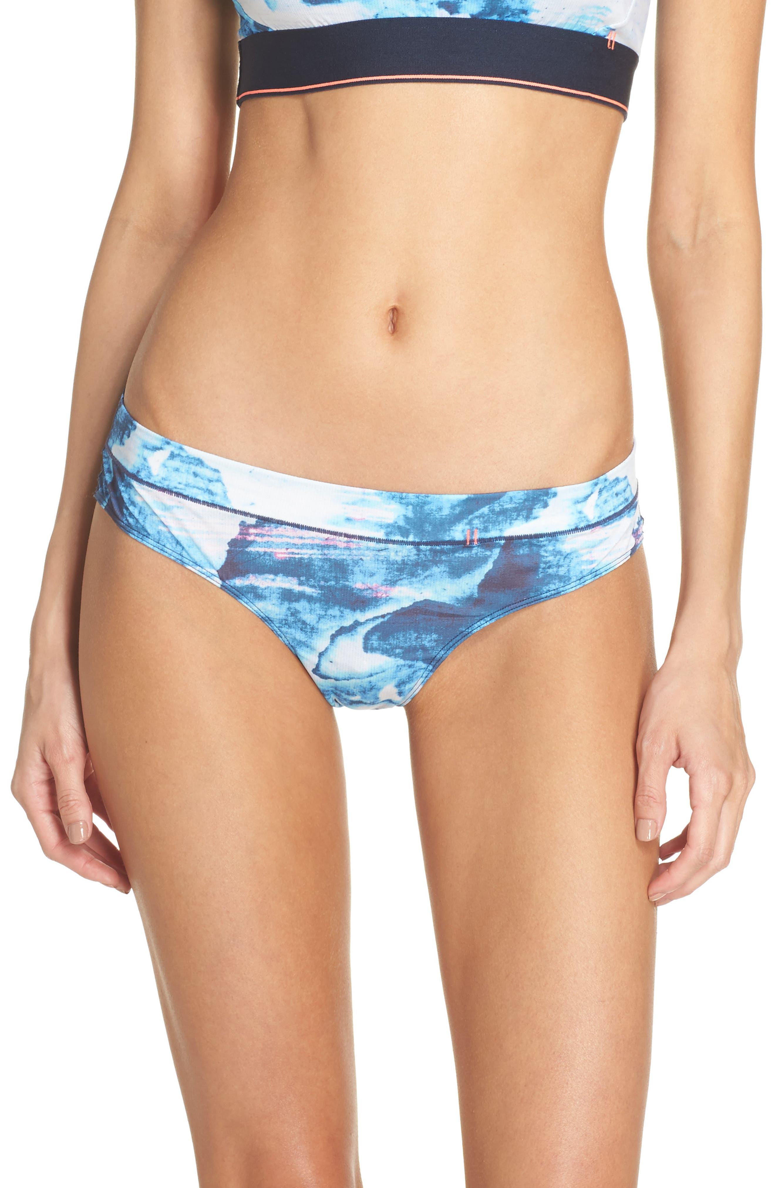 Tropic Storm Cheeky Bikini,                         Main,                         color, Navy