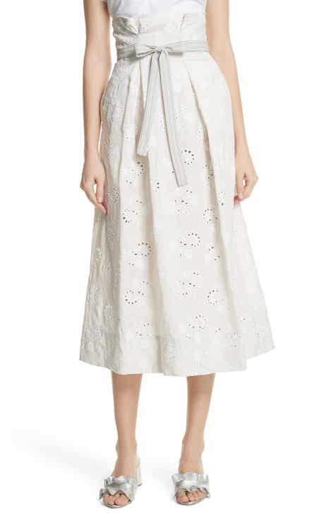 Well-known Women's White Linen Skirts | Nordstrom VY93