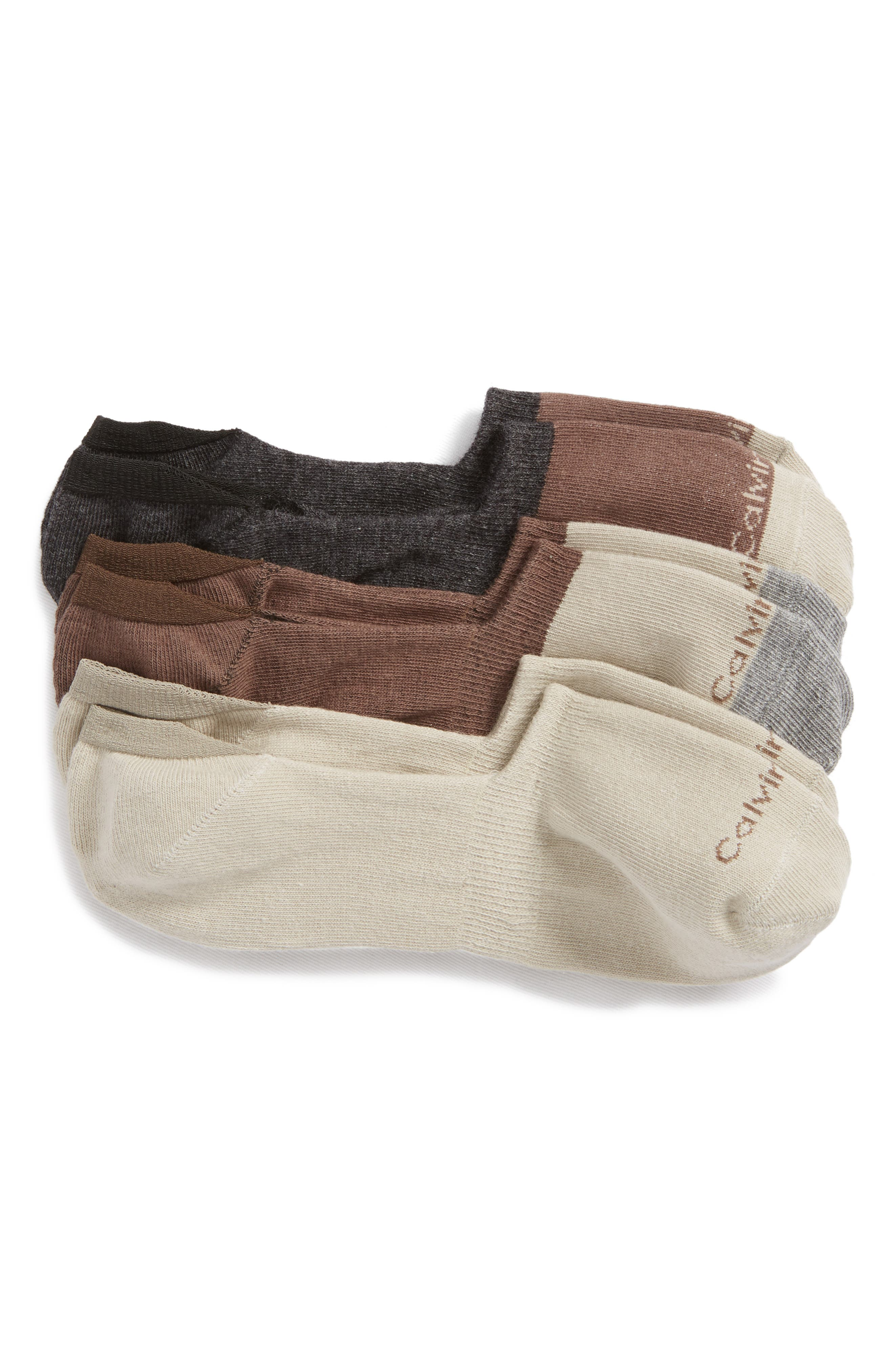 3-Pack No-Show Socks,                         Main,                         color, H60