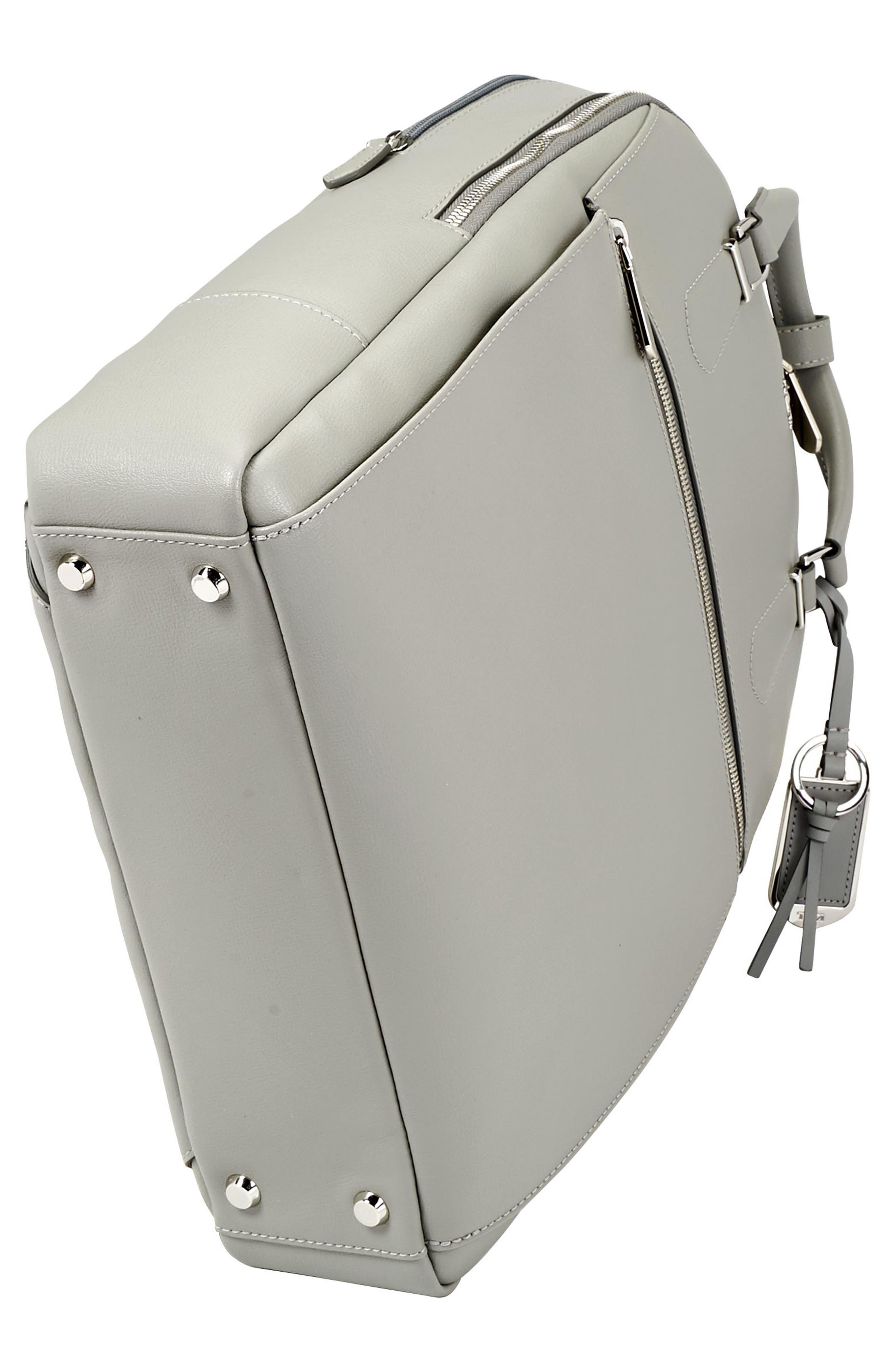 Stanton Orion Leather Backpack,                             Alternate thumbnail 5, color,                             Light Grey