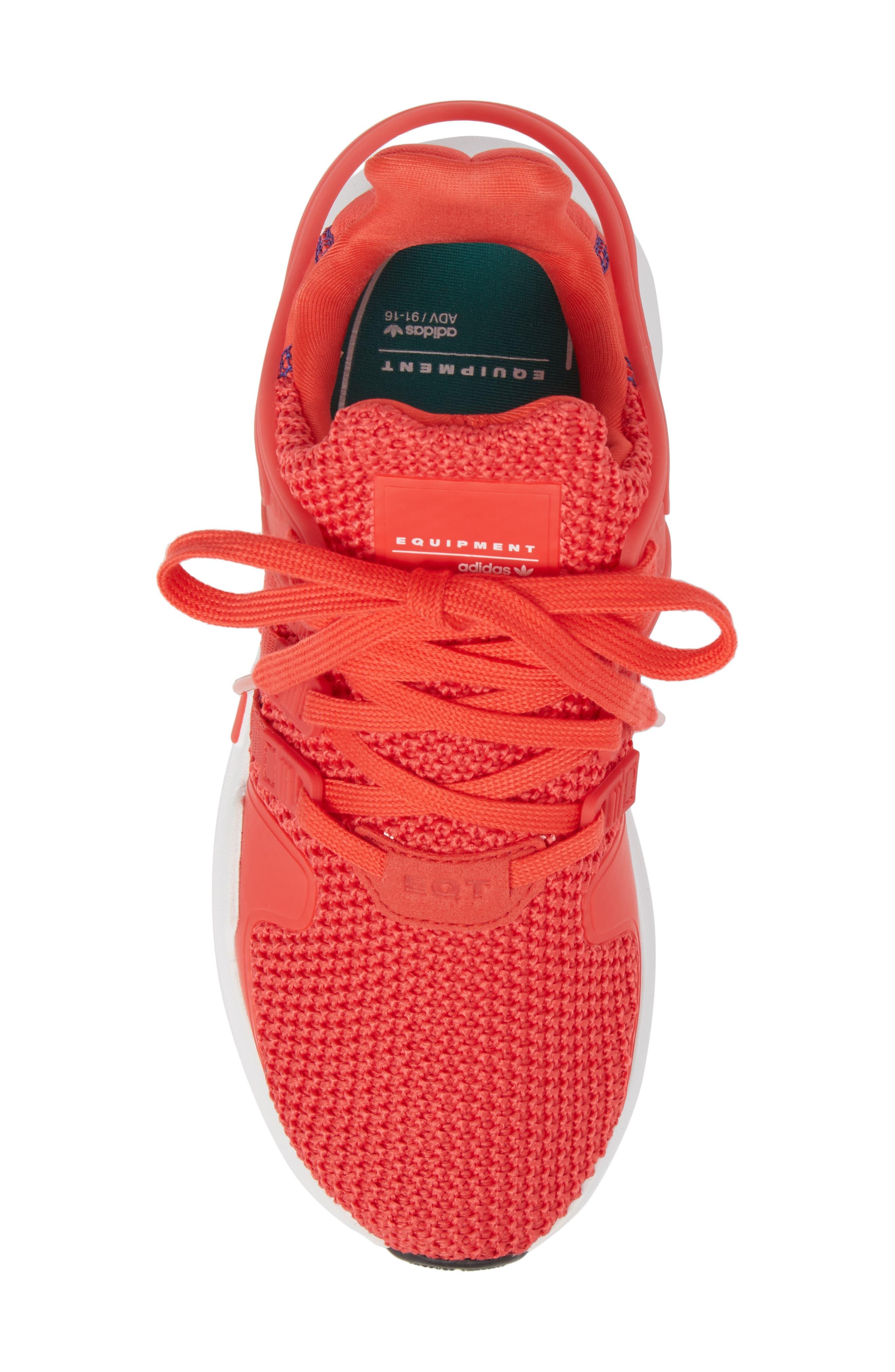 EQT Support Adv Sneaker,                             Alternate thumbnail 5, color,                             Coral White