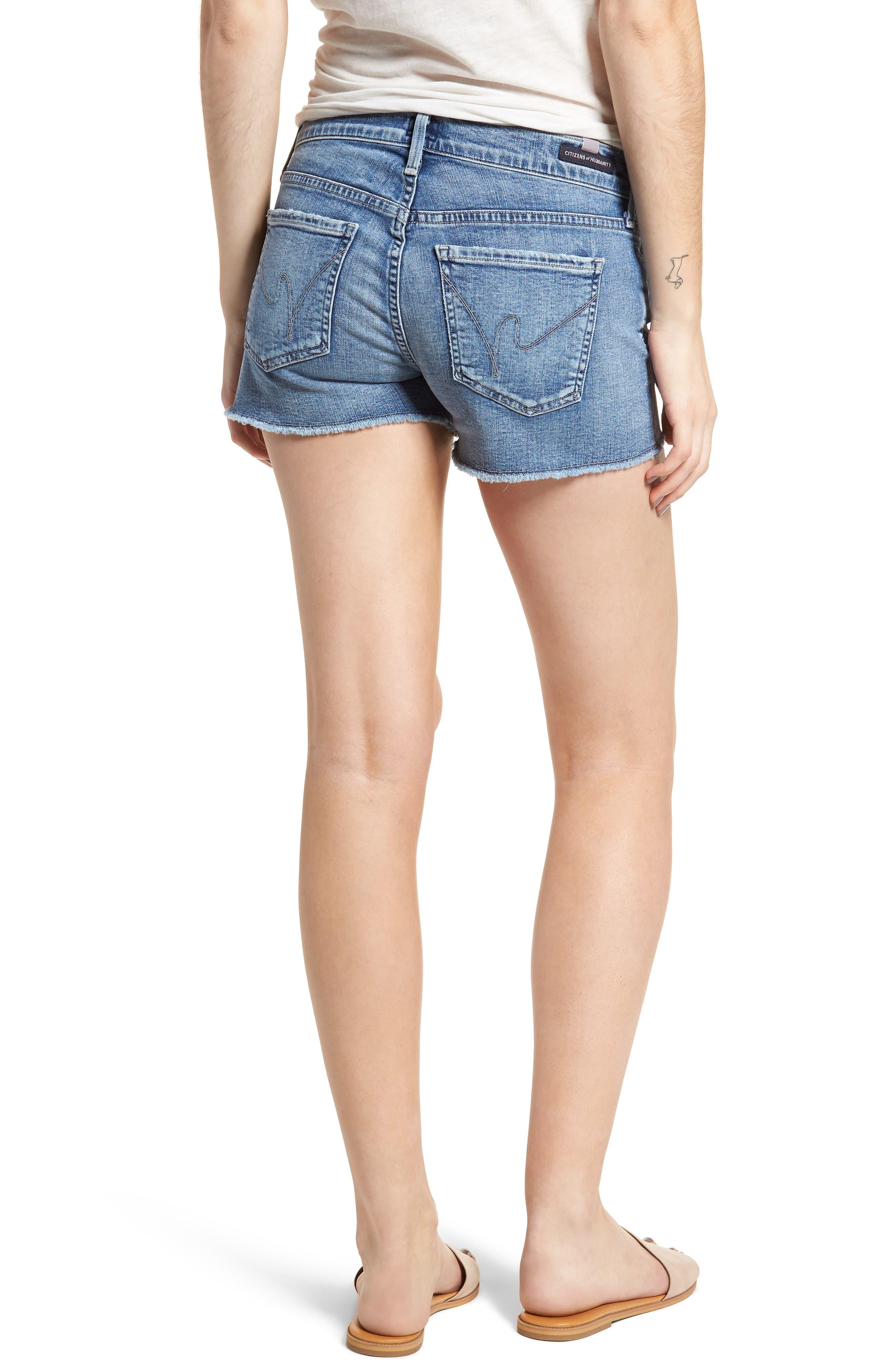 Ava Cutoff Denim Shorts,                             Alternate thumbnail 2, color,                             Pacifica