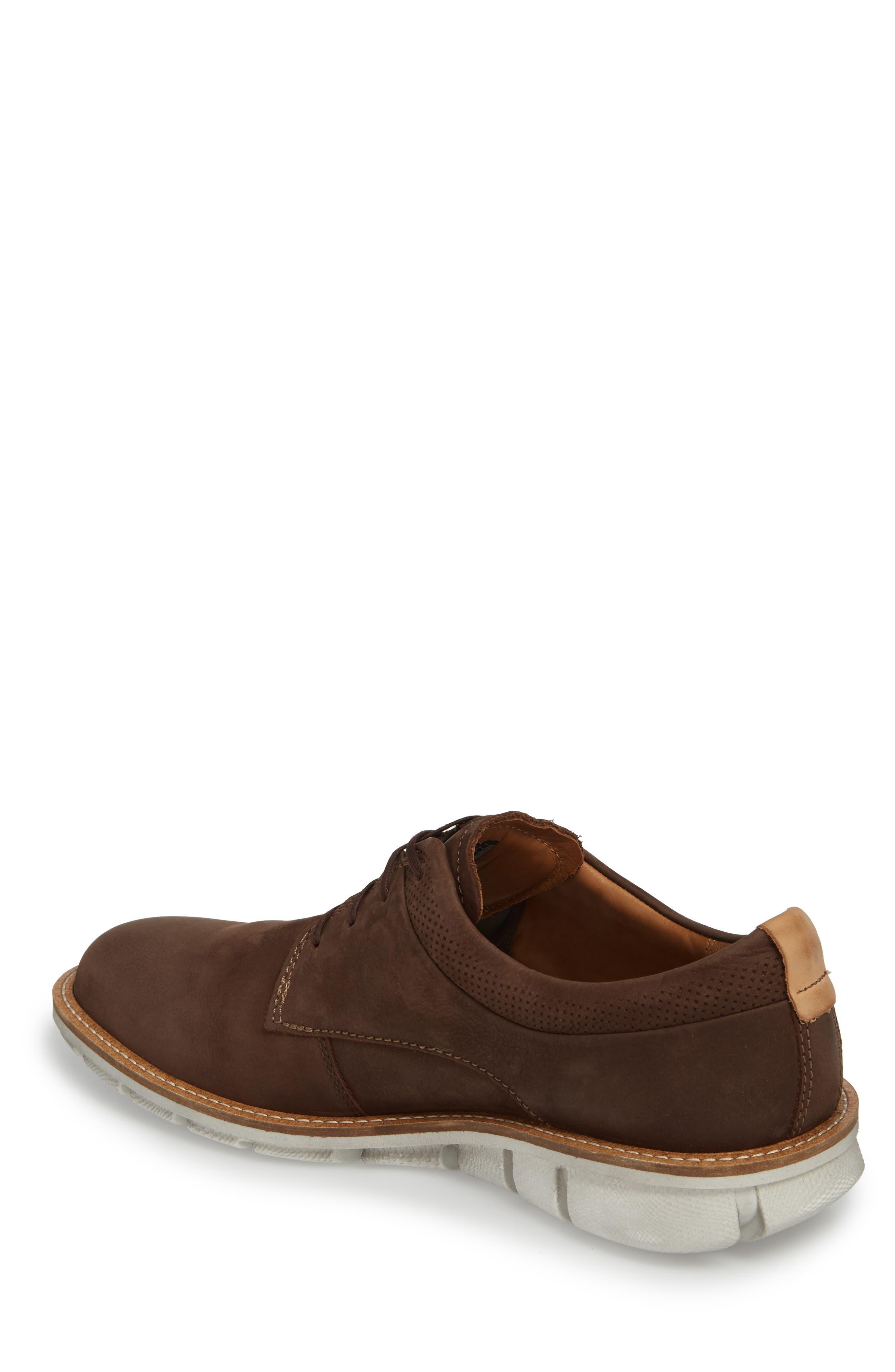 Jeremy Hybrid Plain Toe Derby,                             Alternate thumbnail 2, color,                             Coffee Leather