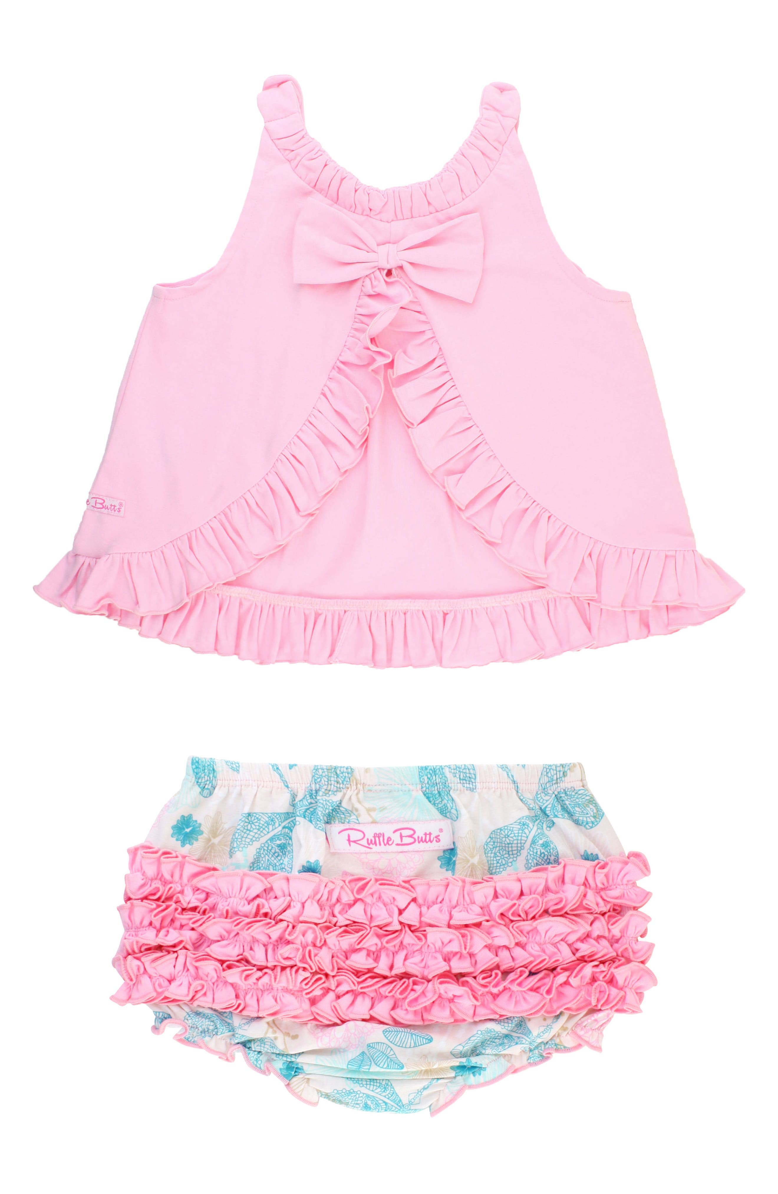 Dancing Dragonflies Swing Top & Ruffle Bloomers Set,                             Alternate thumbnail 3, color,                             Pink