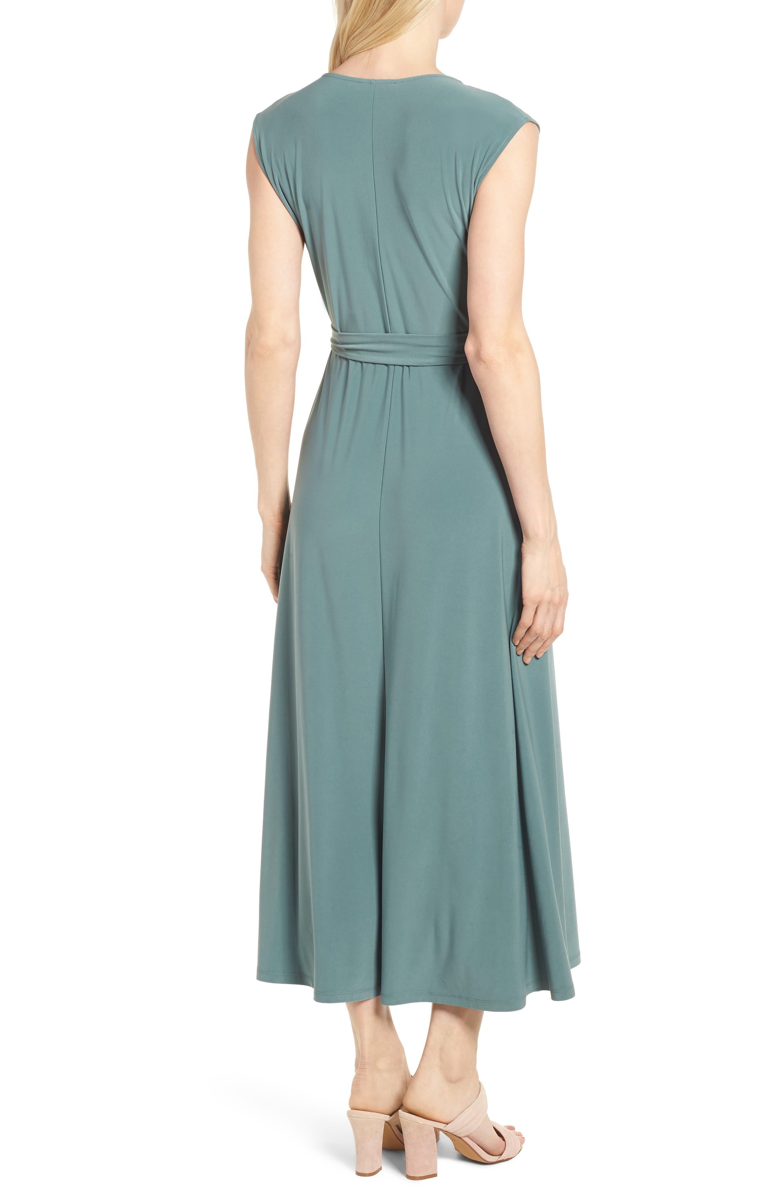 Tie Waist Maxi Dress,                             Alternate thumbnail 2, color,                             738-Tropic Moss