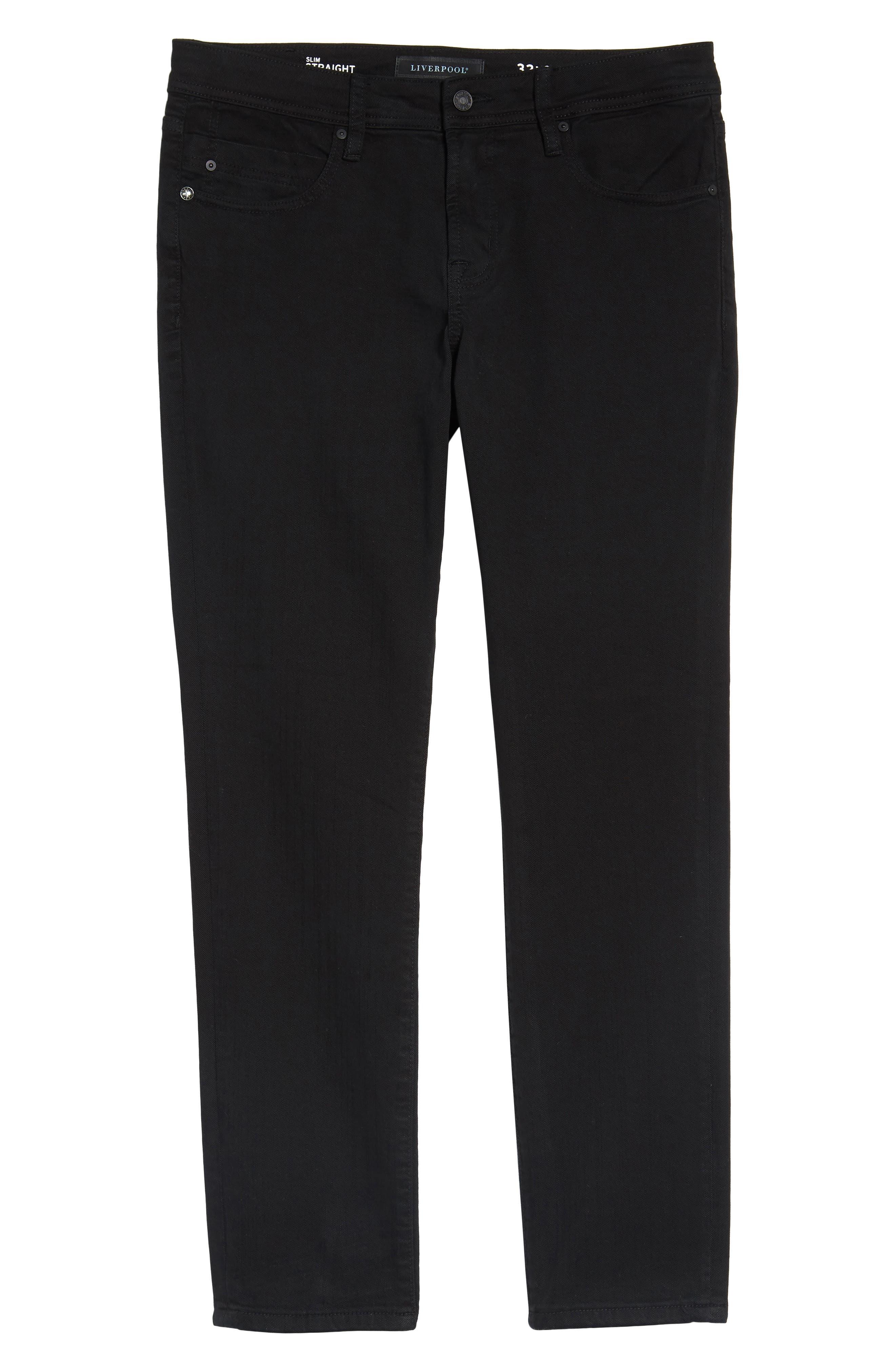 Jeans Co. Kingston Slim Straight Leg Jeans,                             Alternate thumbnail 6, color,                             Black Rinse