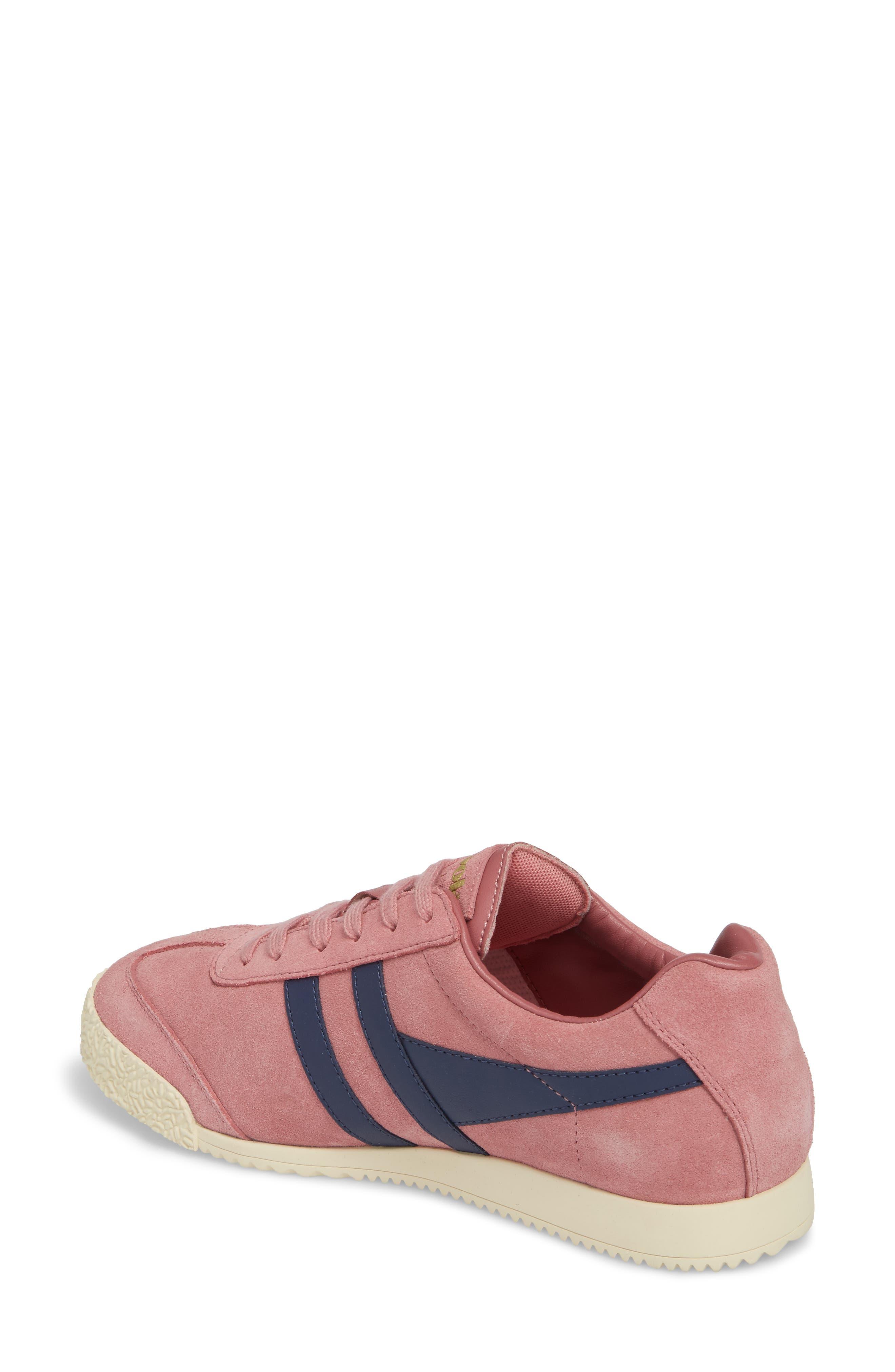 Harrier Suede Low Top Sneaker,                             Alternate thumbnail 2, color,                             Dusty Rose/ Navy