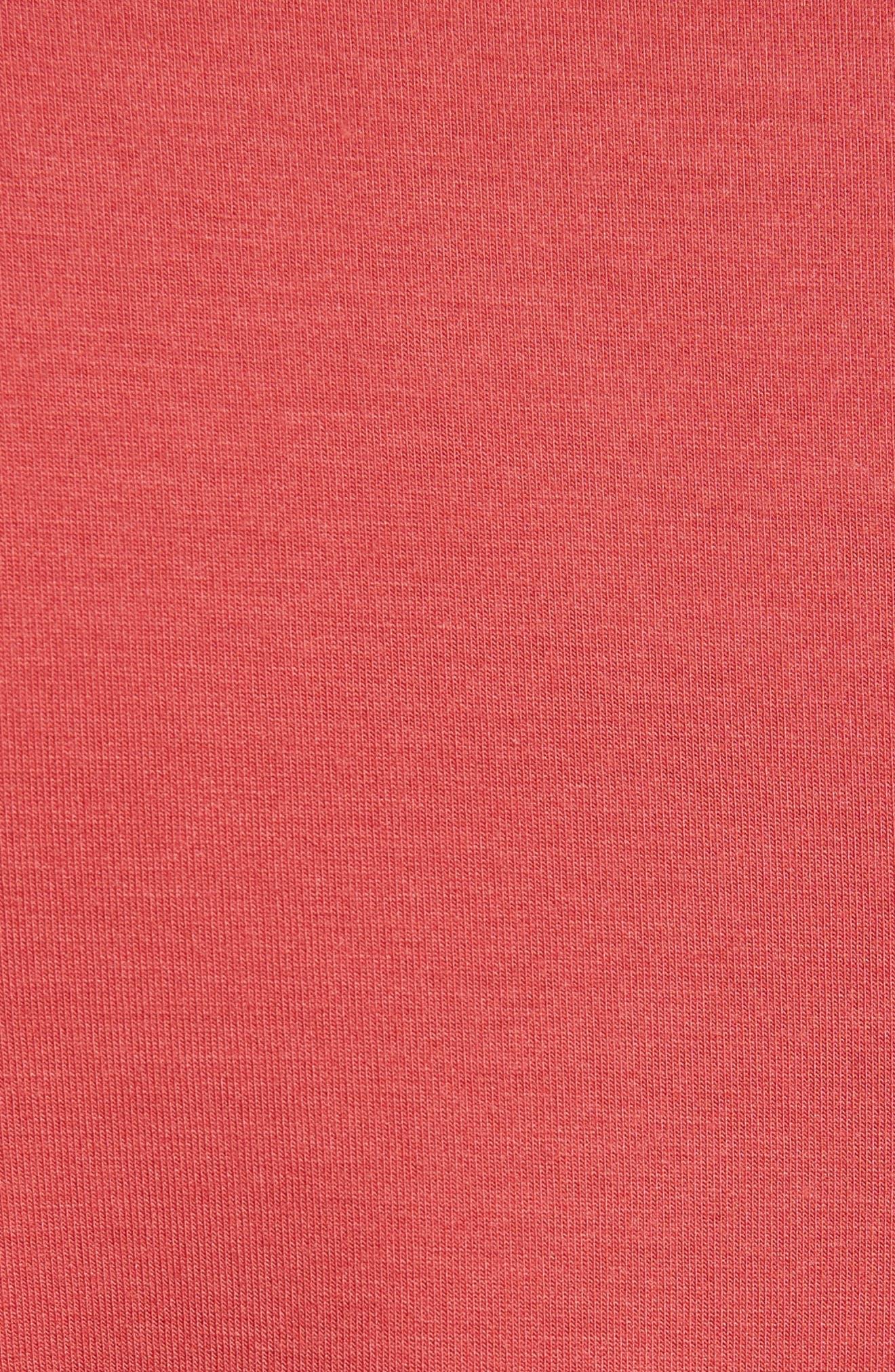 Three Quarter Sleeve Tee,                             Alternate thumbnail 5, color,                             Cardinal