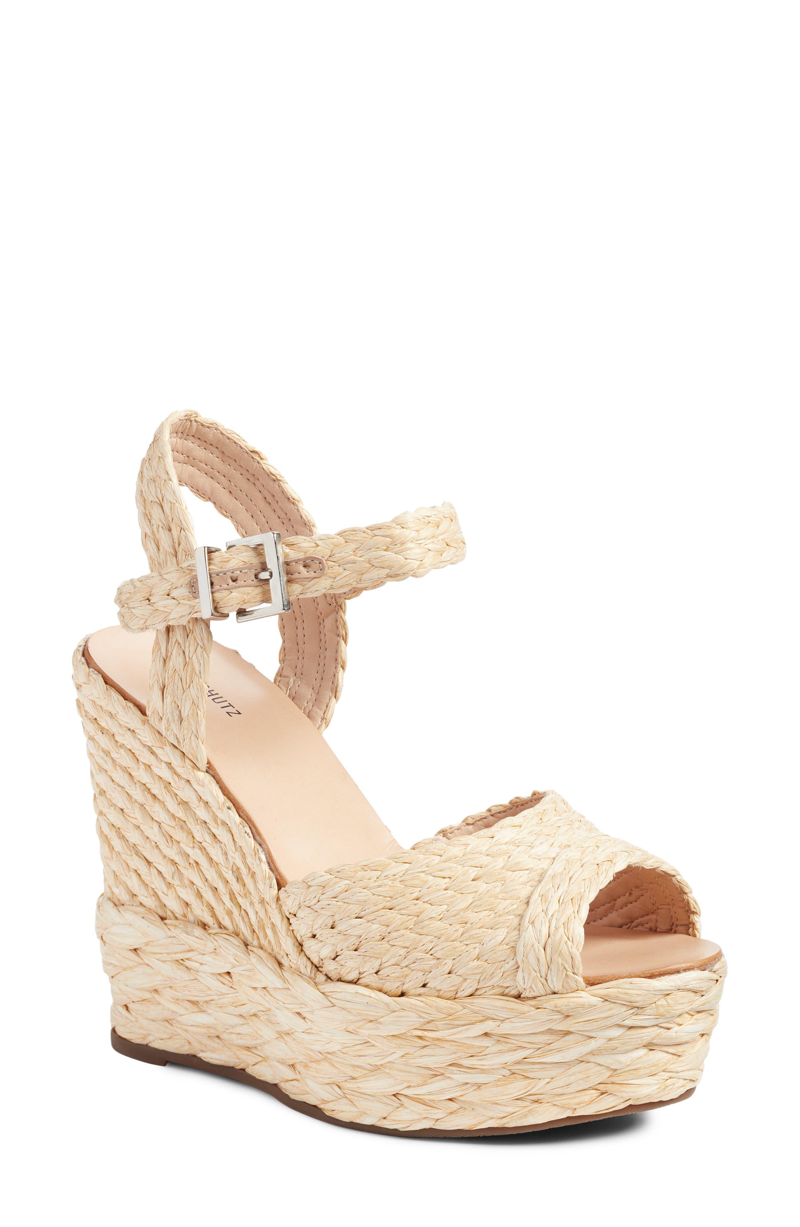 Alternate Image 1 Selected - Schutz Belatrix Platform Wedge Sandal (Women)