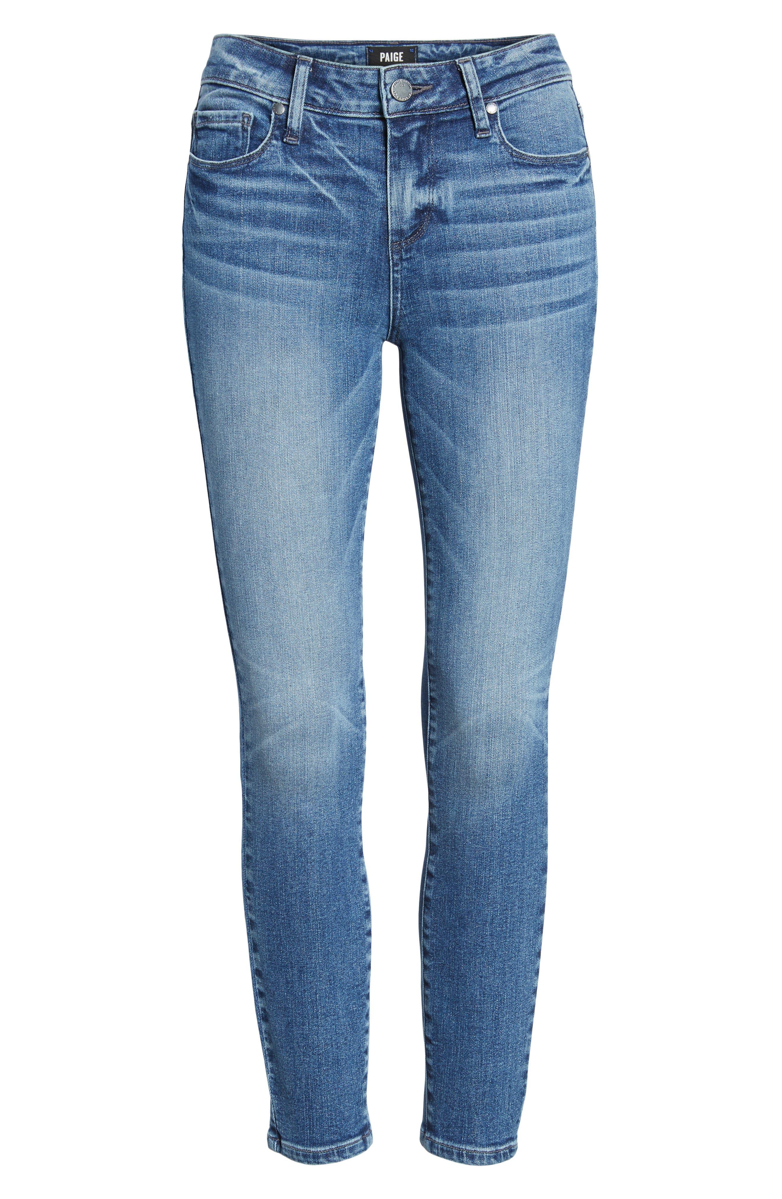Transcend Vintage - Verdugo Crop Ultra Skinny Jeans,                             Alternate thumbnail 7, color,                             Bloomfield