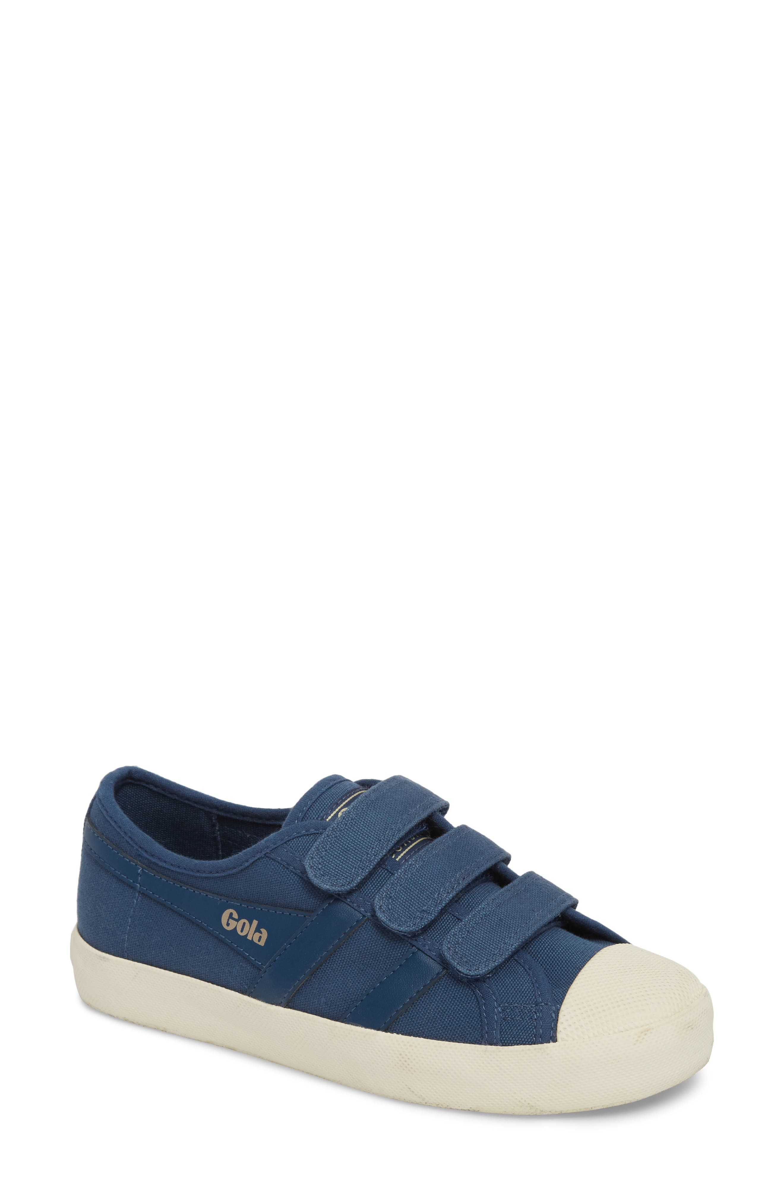 Coaster Low Top Sneaker,                             Main thumbnail 1, color,                             Baltic/ Off White