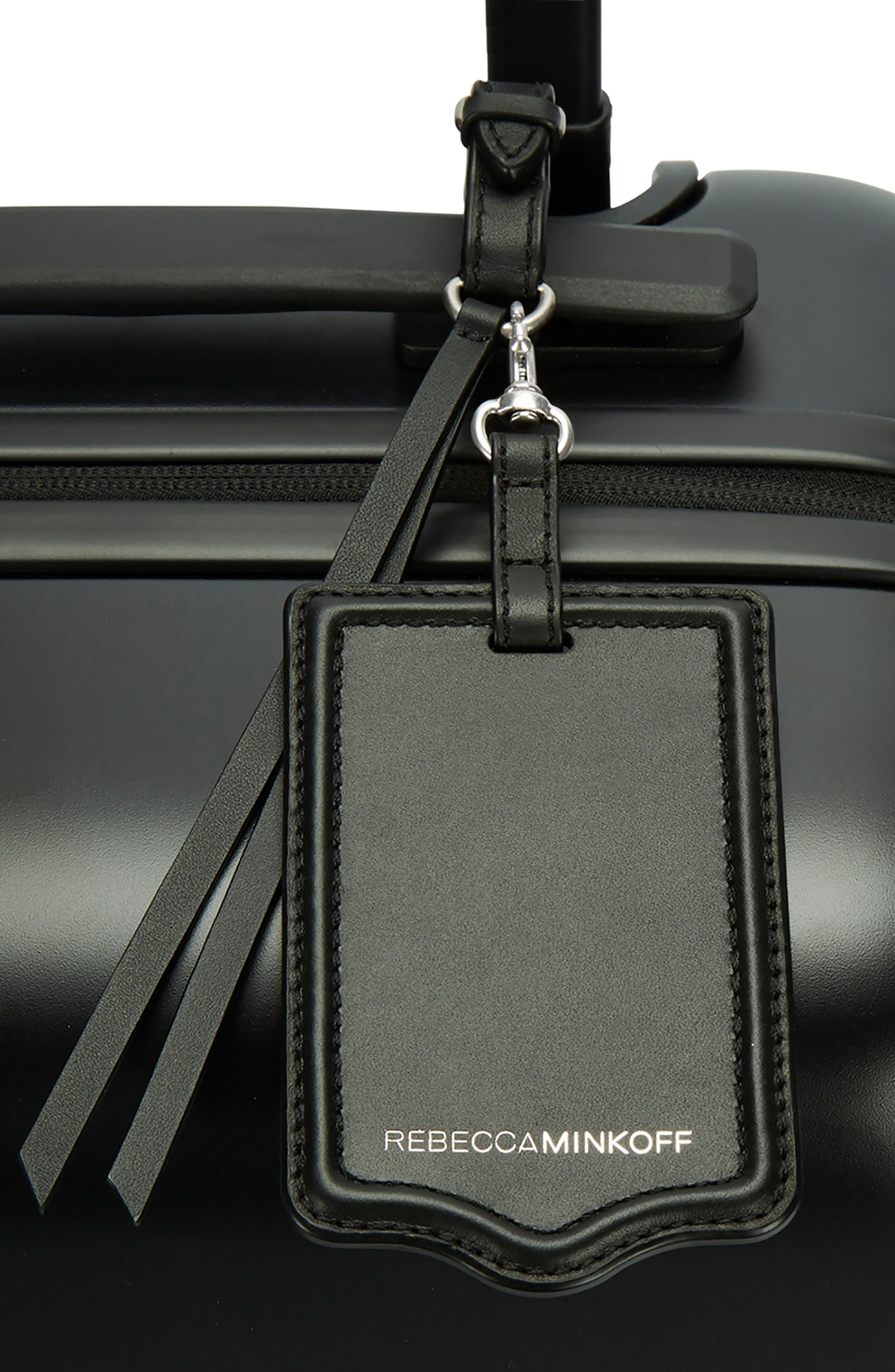 Leather Luggage Tag,                             Alternate thumbnail 2, color,                             Black Napa Leather