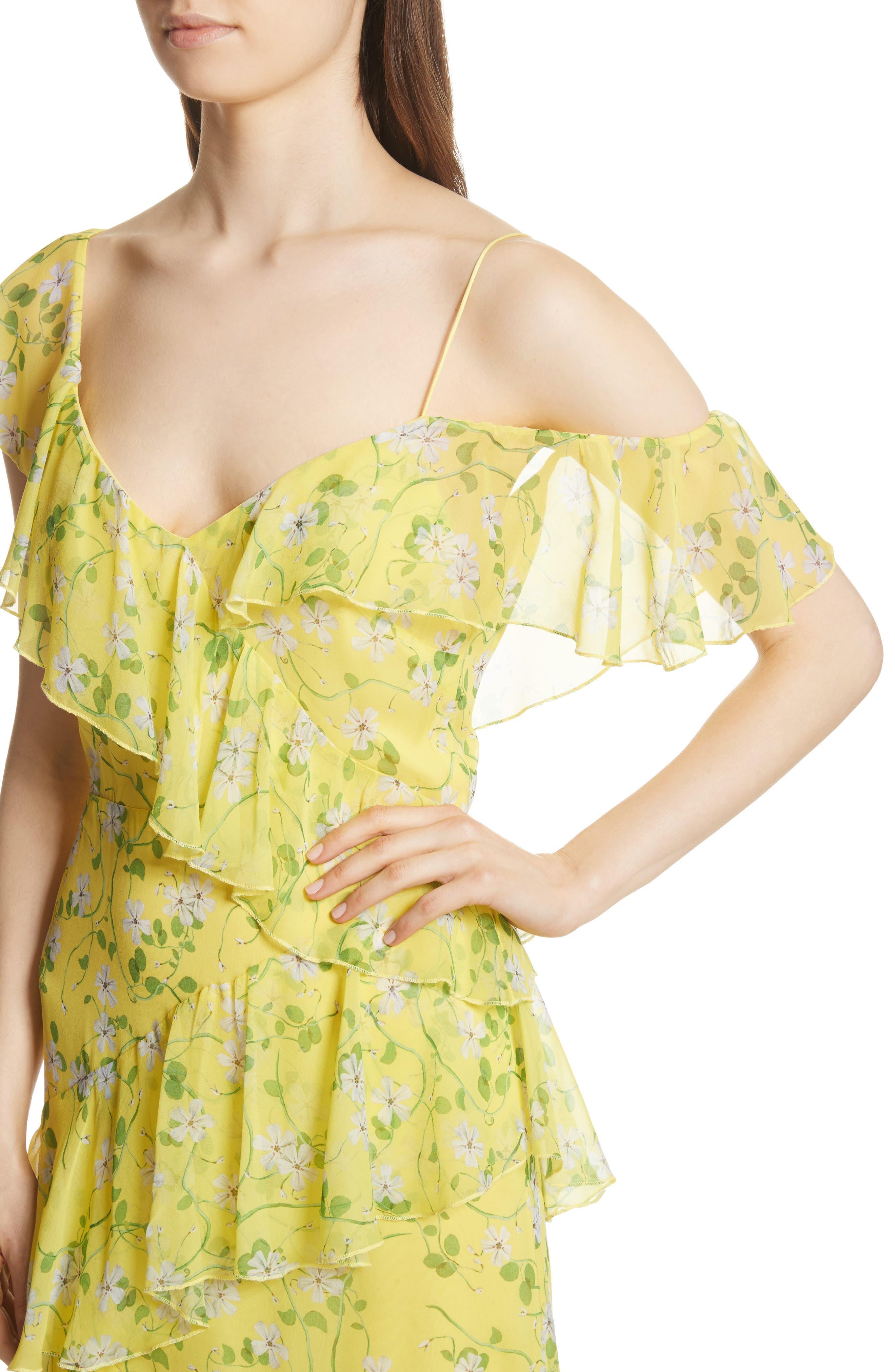 Alternate Image 4  - Alice + Olivia Olympia Asymmetrical Print Silk Dress