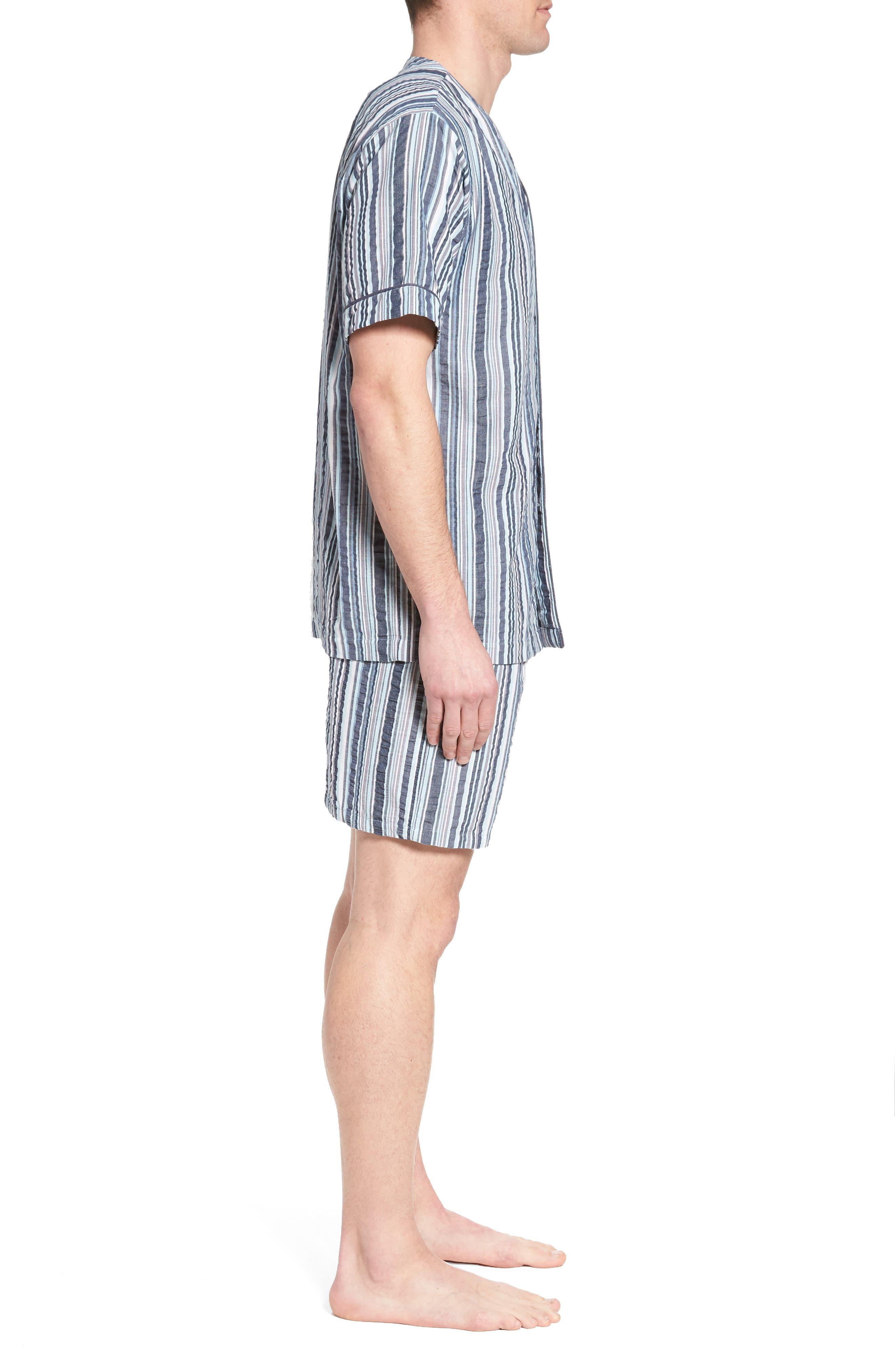 Summer Shell Short Pajamas,                             Alternate thumbnail 3, color,                             Ash