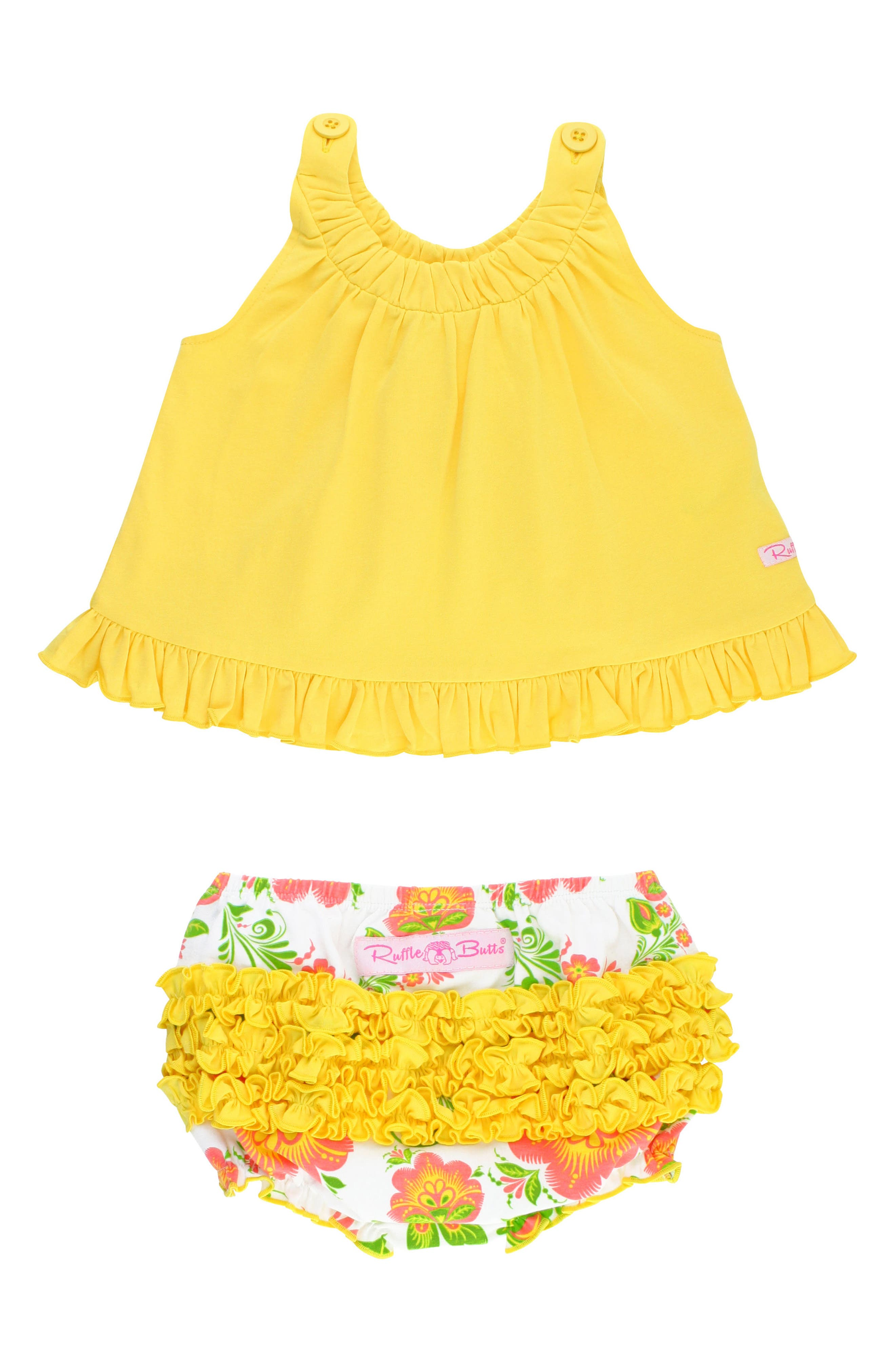 Ivy Lane Swing Top & Ruffle Bloomers Set,                             Main thumbnail 1, color,                             Yellow